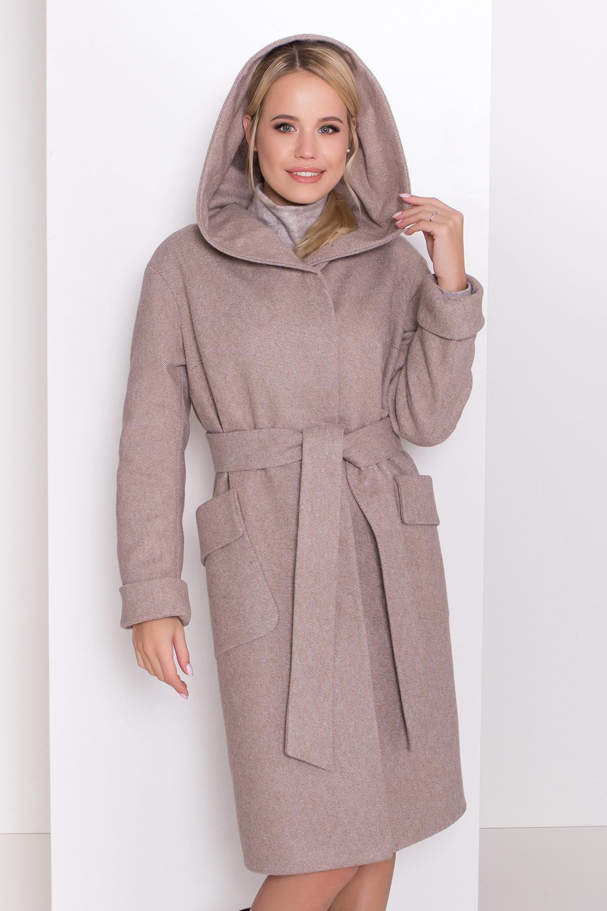 Пальто зима Анджи 8455 АРТ. 44727 Цвет: Бежевый меланж - фото 5, интернет магазин tm-modus.ru