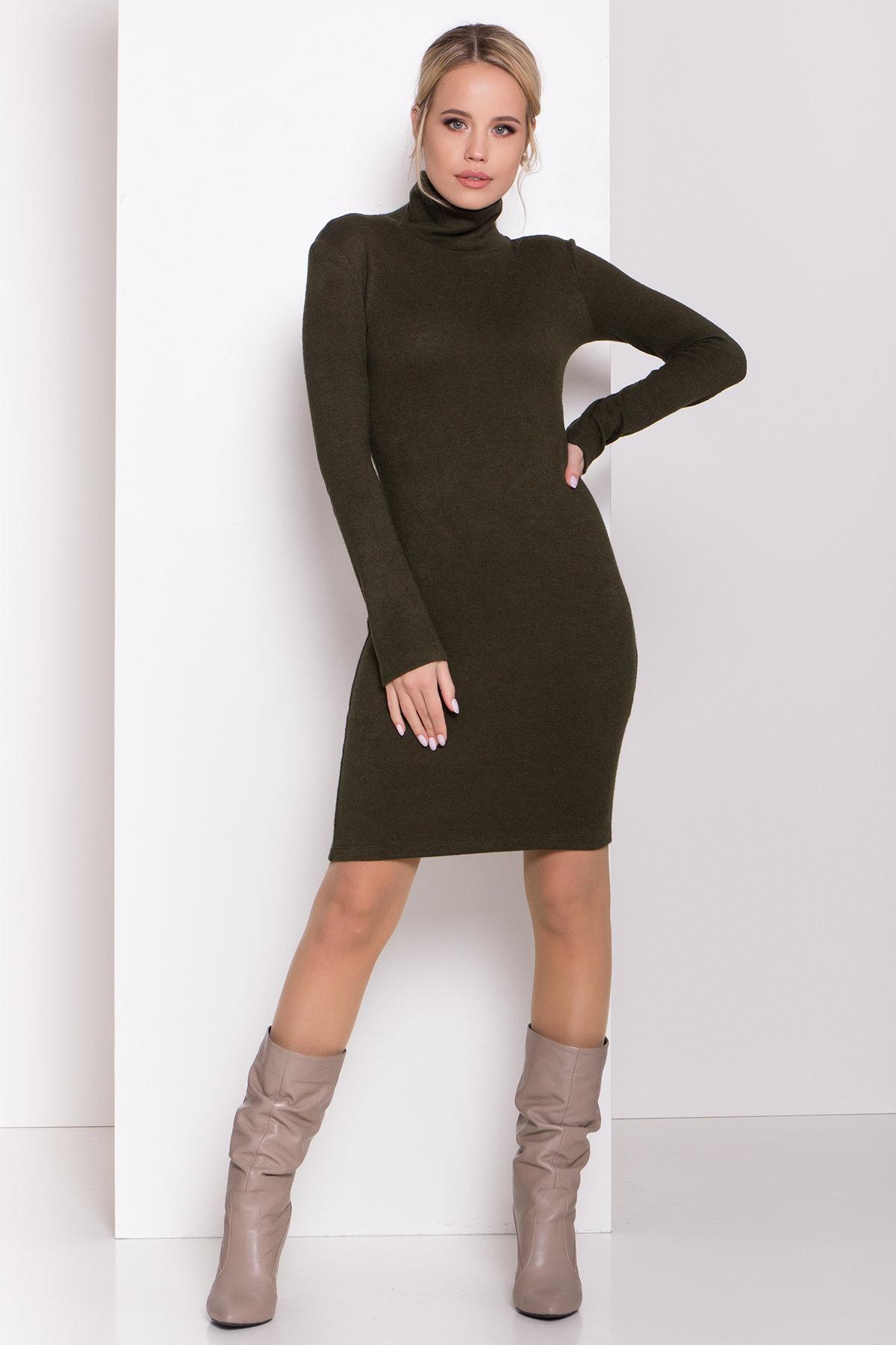 Платье из ангоры Вери 8258 АРТ. 44718 Цвет: Хаки - фото 2, интернет магазин tm-modus.ru