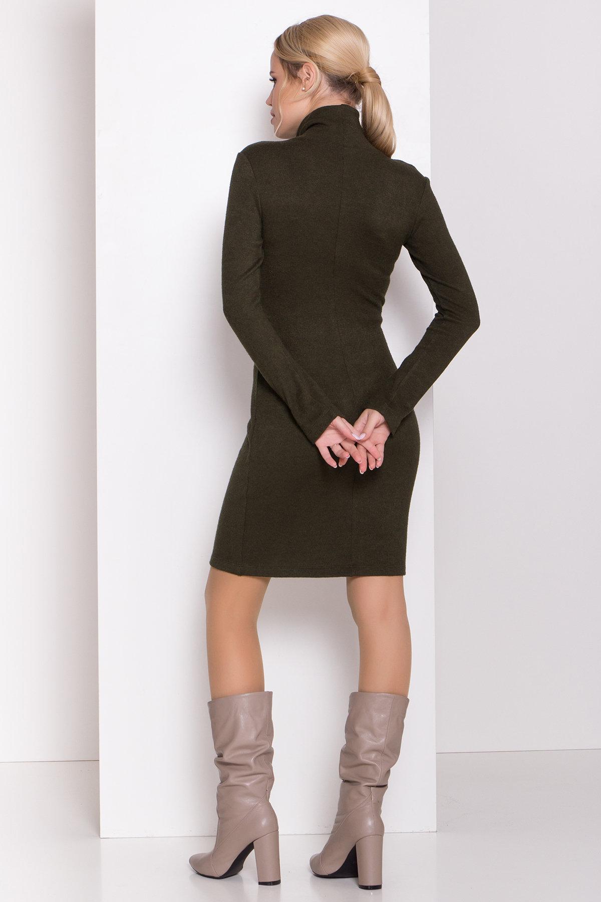Платье из ангоры Вери 8258 АРТ. 44718 Цвет: Хаки - фото 3, интернет магазин tm-modus.ru