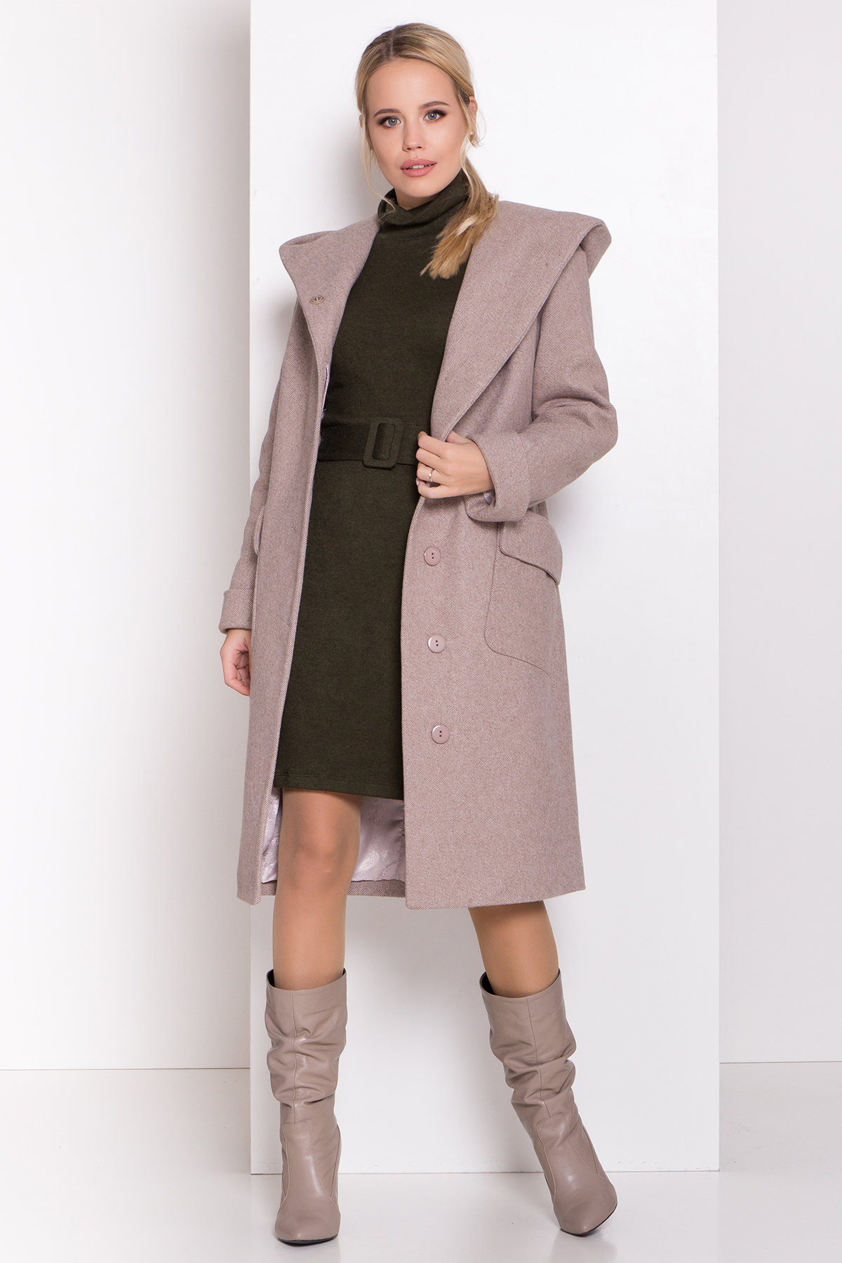 Платье из ангоры Вери 8258 АРТ. 44718 Цвет: Хаки - фото 4, интернет магазин tm-modus.ru