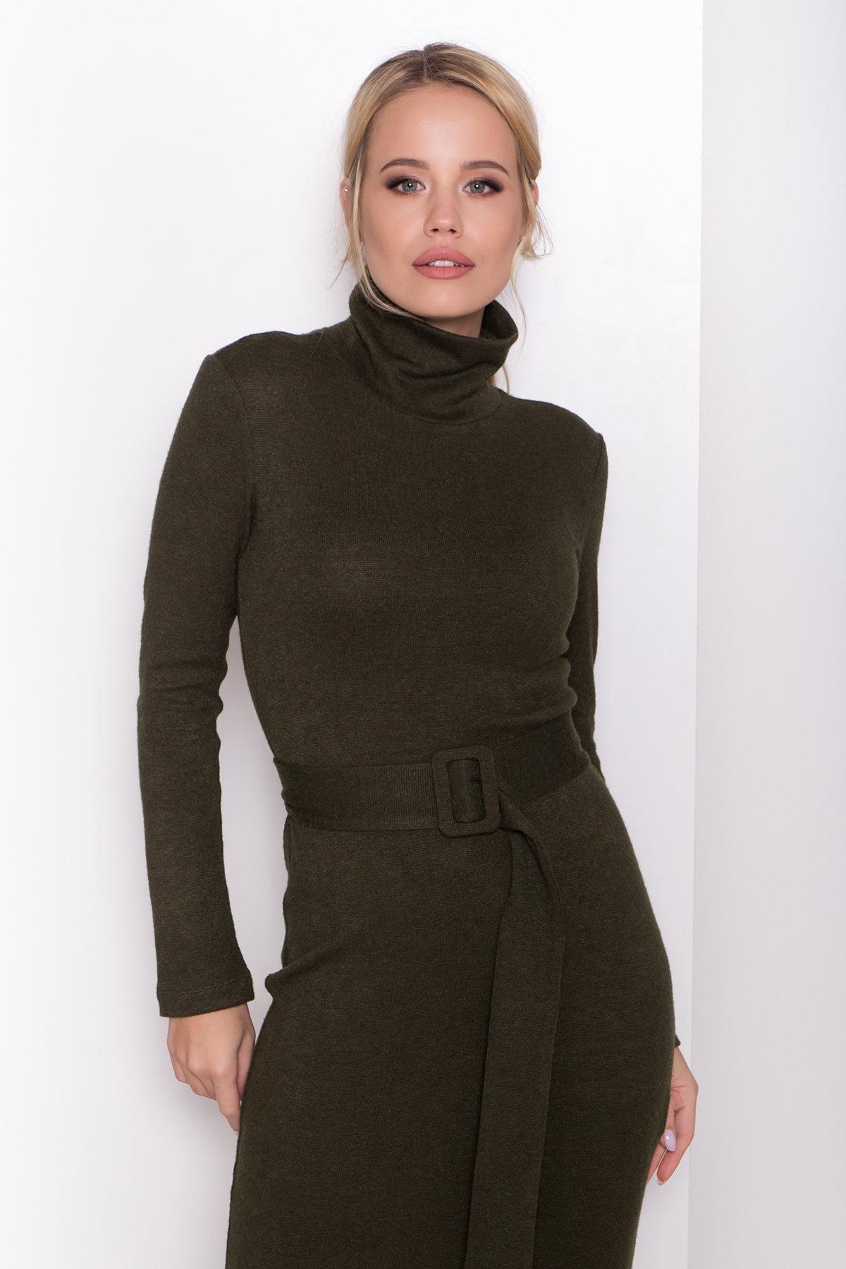 Платье из ангоры Вери 8258 АРТ. 44718 Цвет: Хаки - фото 5, интернет магазин tm-modus.ru