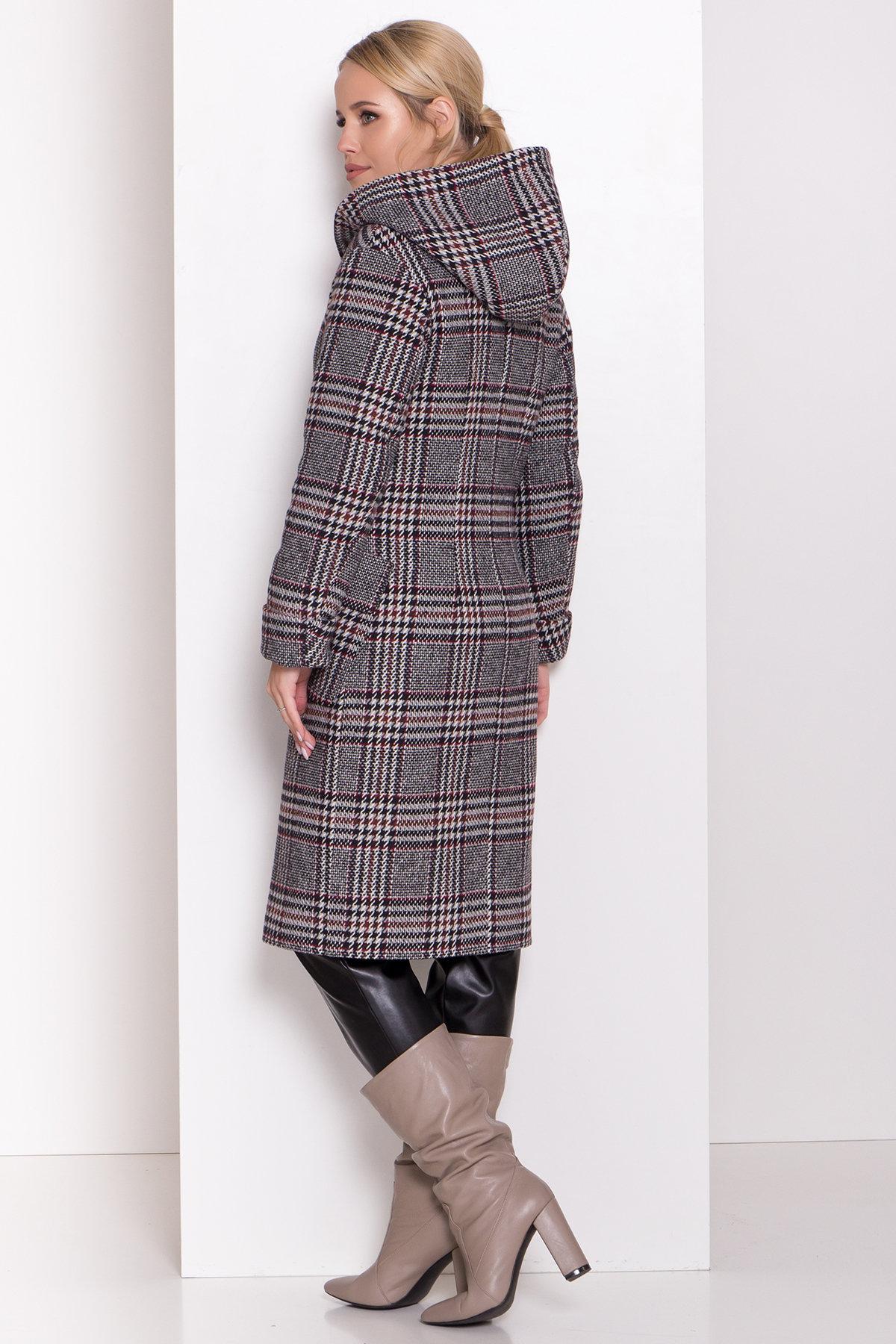 Зимнее пальто в стильную клетку Анджи 8276 АРТ. 44724 Цвет: Клетка кр черн/сер/вин - фото 10, интернет магазин tm-modus.ru