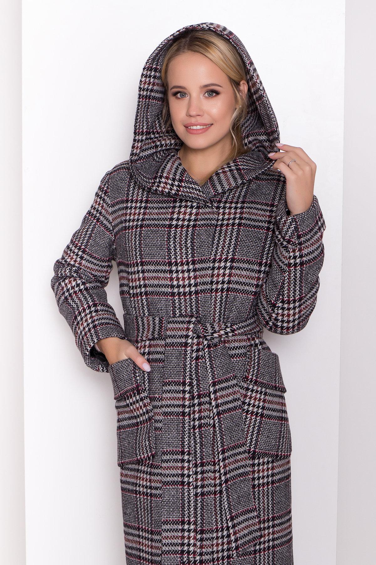 Зимнее пальто в стильную клетку Анджи 8276 АРТ. 44724 Цвет: Клетка кр черн/сер/вин - фото 13, интернет магазин tm-modus.ru