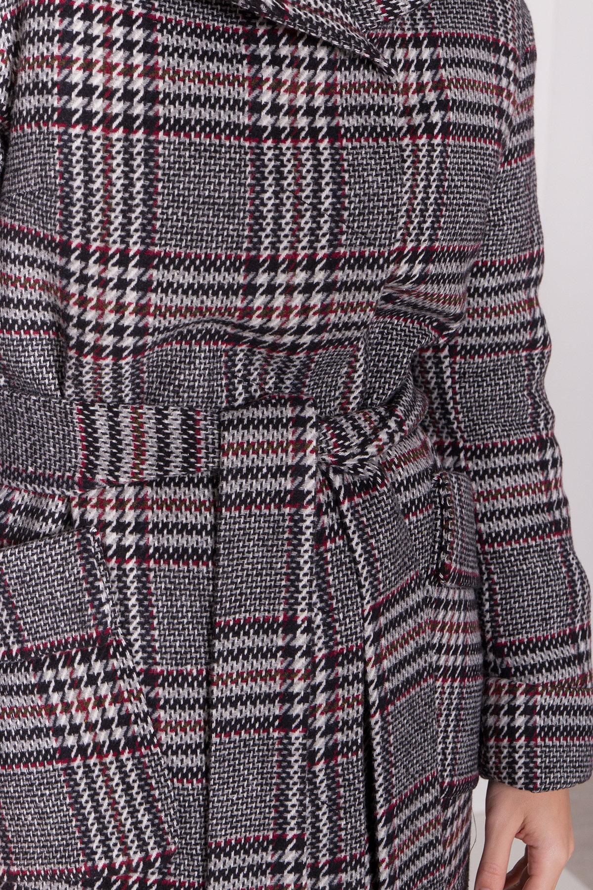 Зимнее пальто в стильную клетку Анджи 8276 АРТ. 44724 Цвет: Клетка кр черн/сер/вин - фото 16, интернет магазин tm-modus.ru