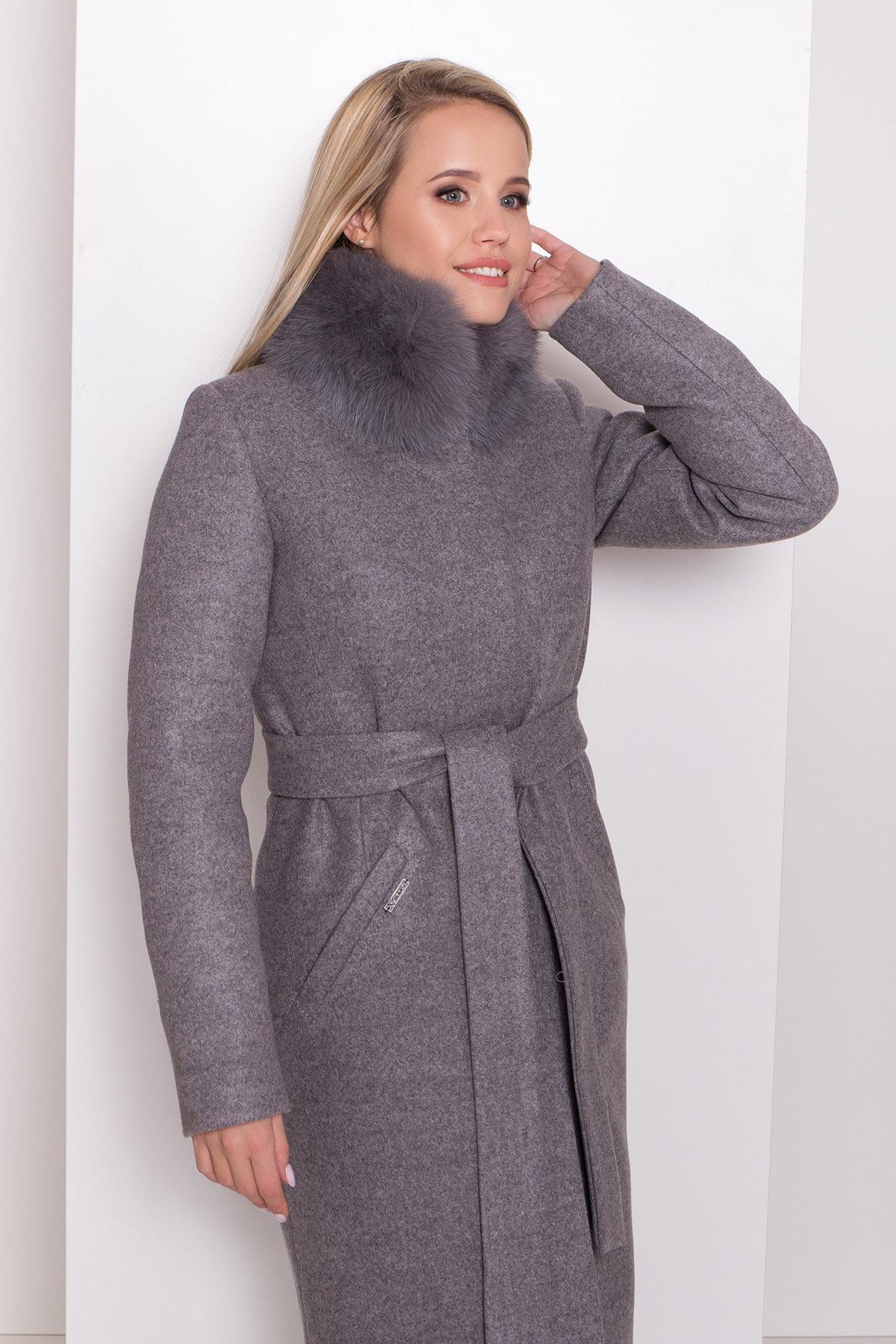 Утепленное пальто зима Люцея 8417 Цвет: Карамель 20