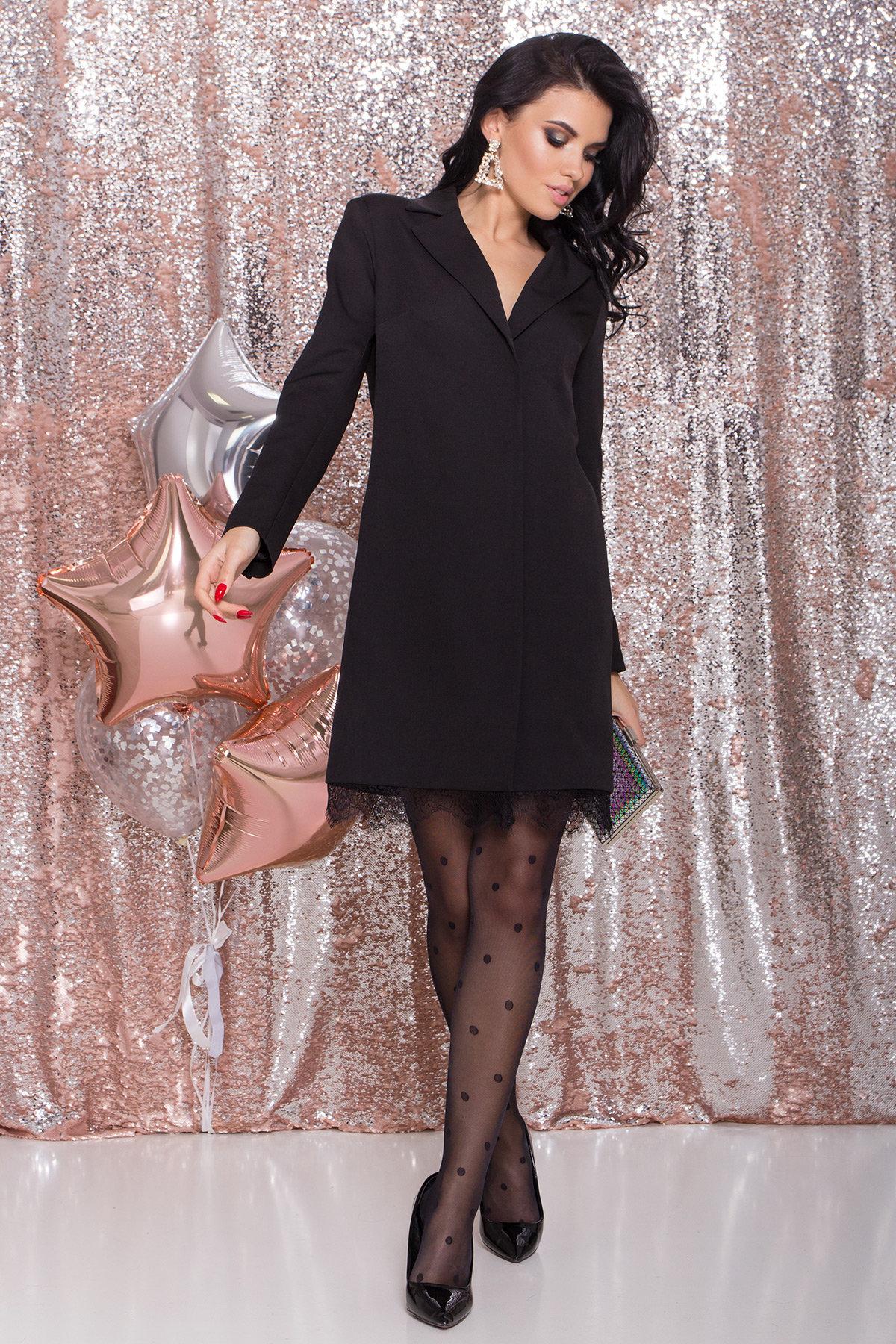 Платье-жакет Маренго 8426 АРТ. 44664 Цвет: Черный - фото 8, интернет магазин tm-modus.ru