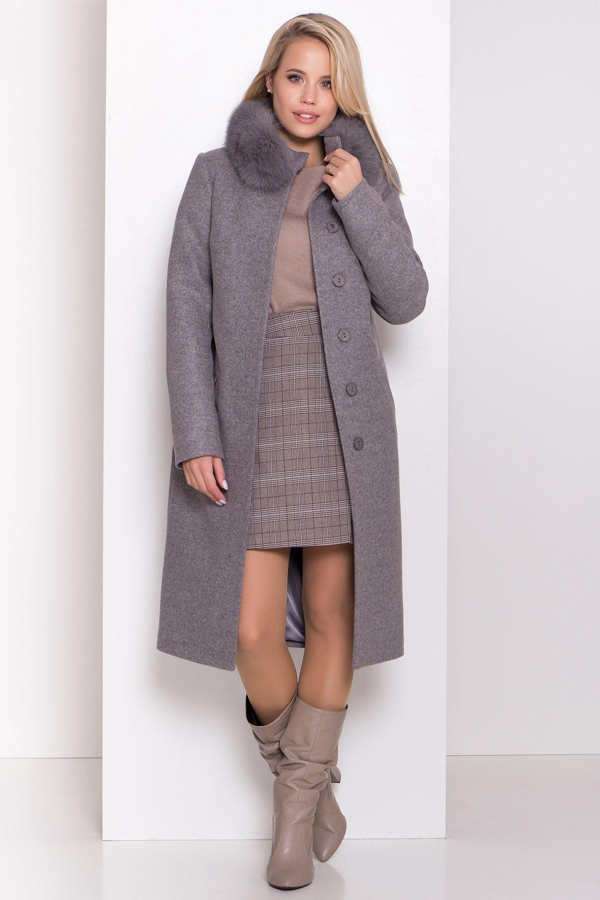 Утепленное пальто зима Люцея 8417 АРТ. 44667 Цвет: Карамель 20/1 - фото 2, интернет магазин tm-modus.ru