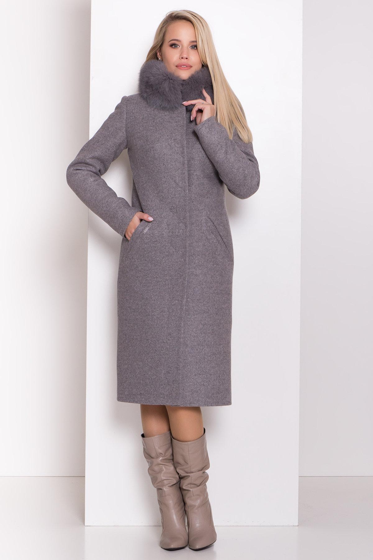Утепленное пальто зима Люцея 8417 АРТ. 44667 Цвет: Карамель 20/1 - фото 3, интернет магазин tm-modus.ru