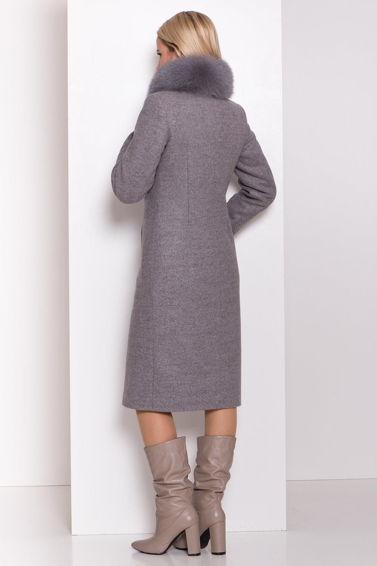 Утепленное пальто зима Люцея 8417 АРТ. 44667 Цвет: Карамель 20/1 - фото 4, интернет магазин tm-modus.ru