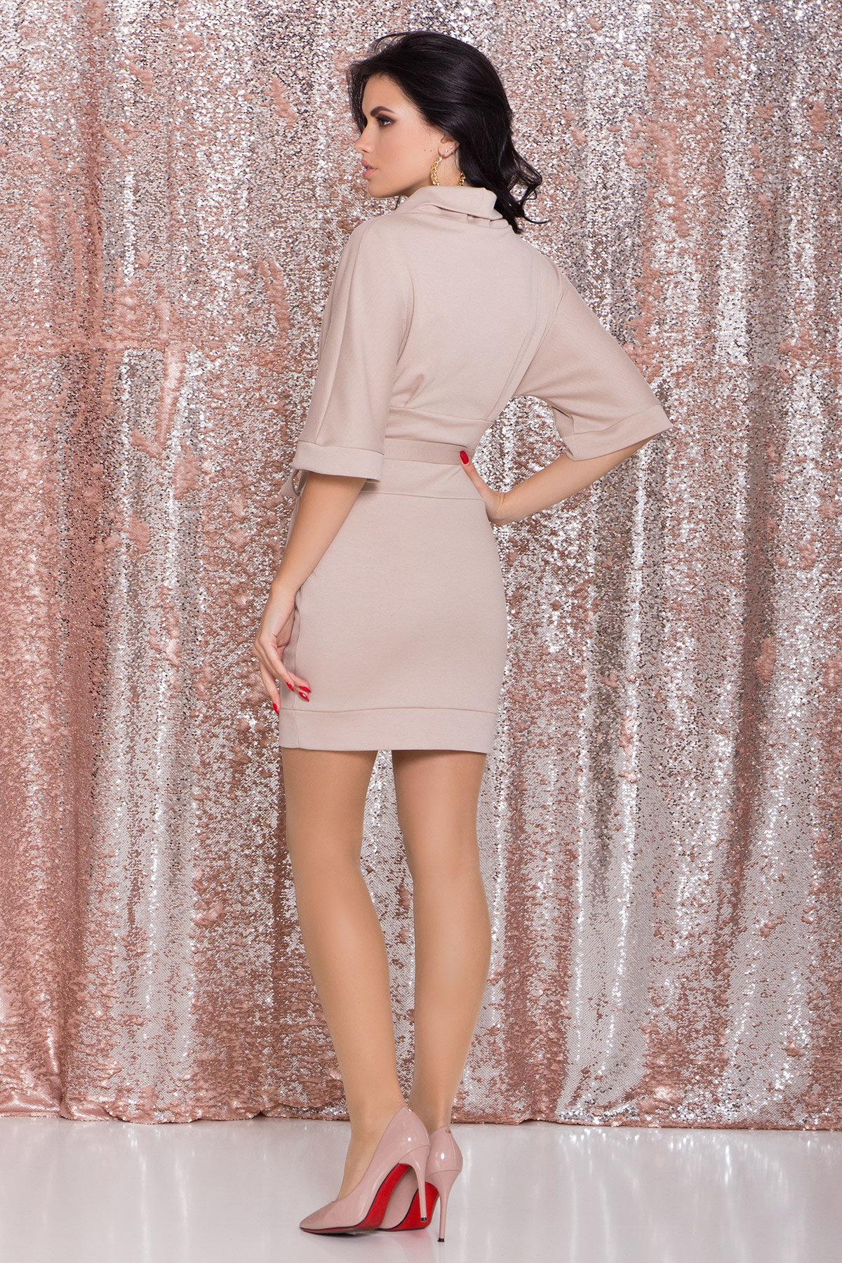 Трикотажное платье Вассаби 8478 АРТ. 44764 Цвет: Бежевый - фото 3, интернет магазин tm-modus.ru