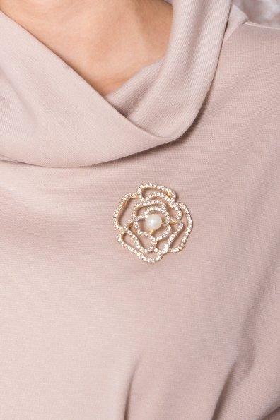 Трикотажное платье Вассаби 8478 Цвет: Бежевый