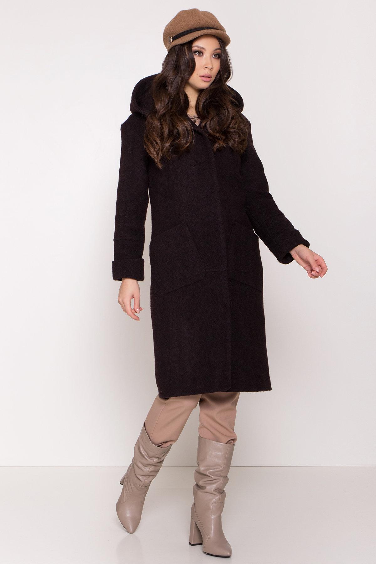 Пальто с капюшоном зимнее Анита 8327 АРТ. 44771 Цвет: Шоколад - фото 2, интернет магазин tm-modus.ru