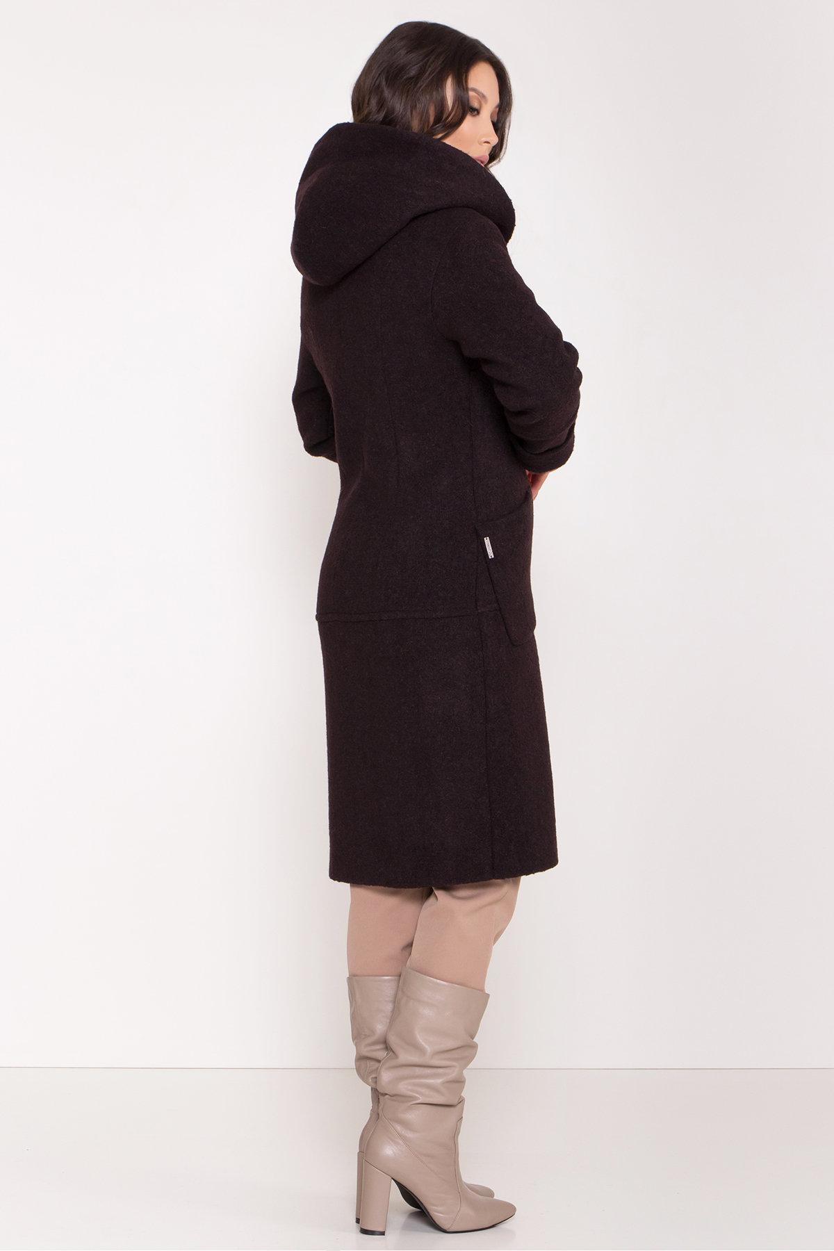 Пальто с капюшоном зимнее Анита 8327 АРТ. 44771 Цвет: Шоколад - фото 3, интернет магазин tm-modus.ru
