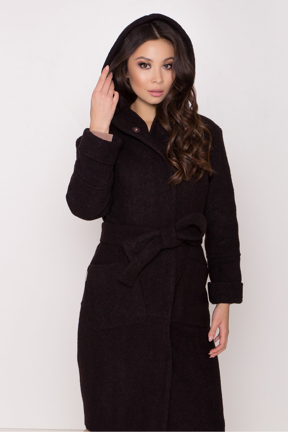 Пальто с капюшоном зимнее Анита 8327 АРТ. 44771 Цвет: Шоколад - фото 5, интернет магазин tm-modus.ru