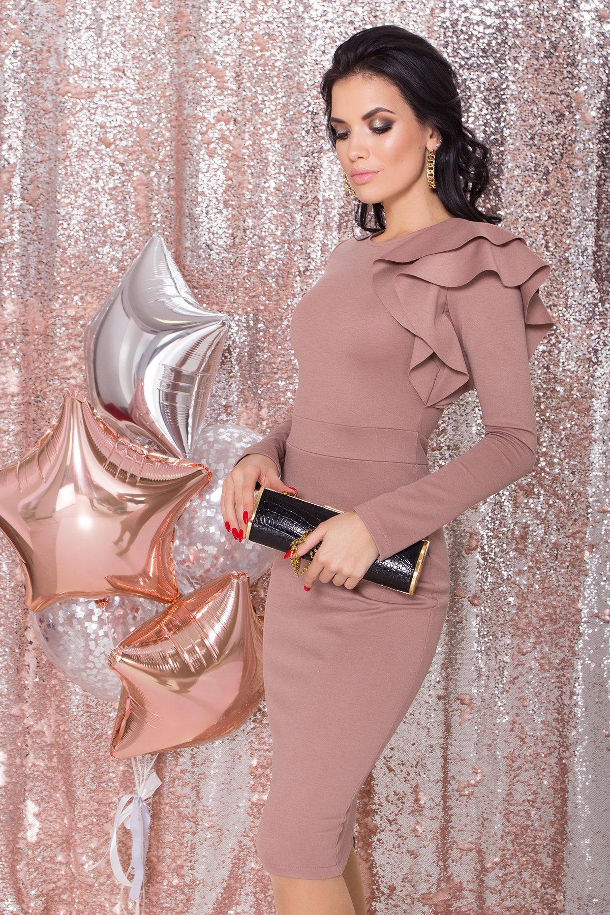 Платье Оникс 8367 АРТ. 44795 Цвет: Бежевый Темный - фото 3, интернет магазин tm-modus.ru