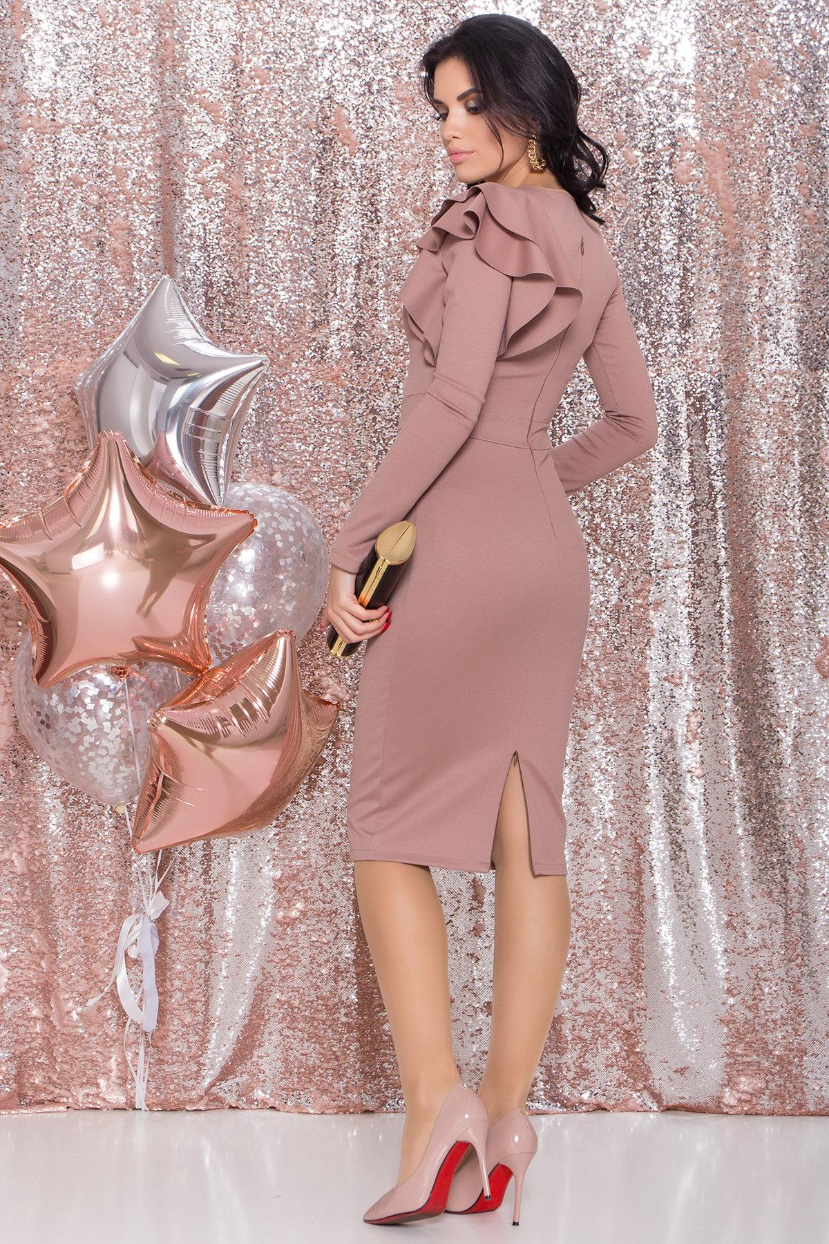 Платье Оникс 8367 АРТ. 44795 Цвет: Бежевый Темный - фото 5, интернет магазин tm-modus.ru