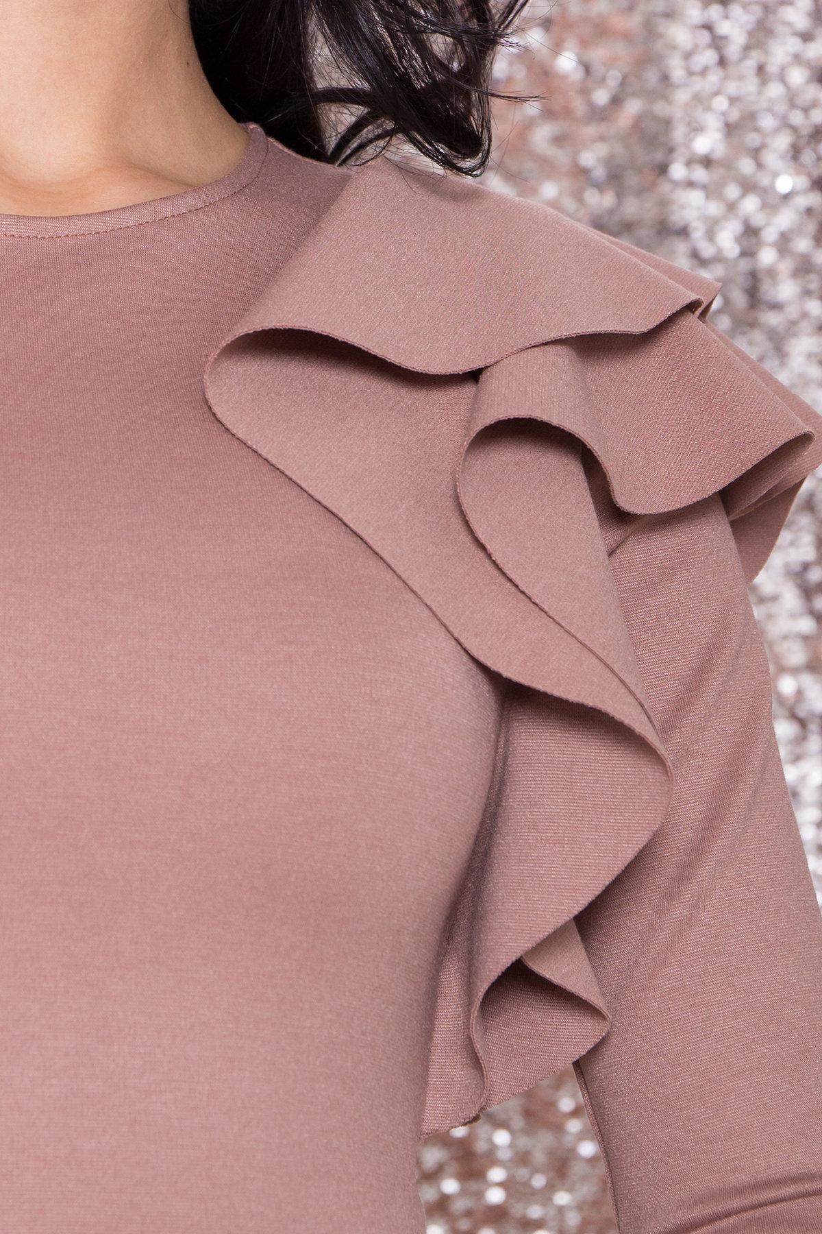 Платье Оникс 8367 АРТ. 44795 Цвет: Бежевый Темный - фото 7, интернет магазин tm-modus.ru