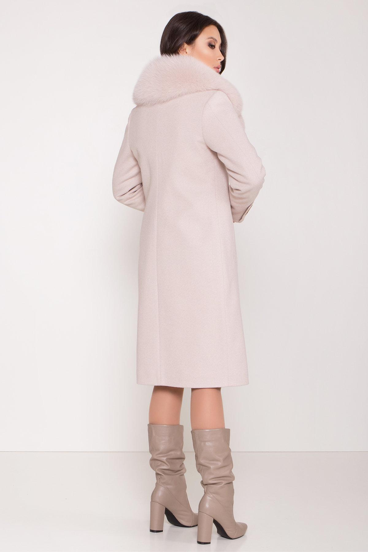 Зимнее пальто с поясом Реджи 8311 Цвет: Бежевый Светлый 5