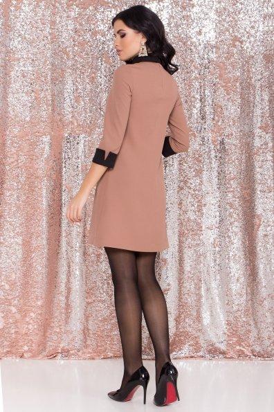 Платье-трапеция Вивьен 8512 Цвет: Бежевый Т/черный