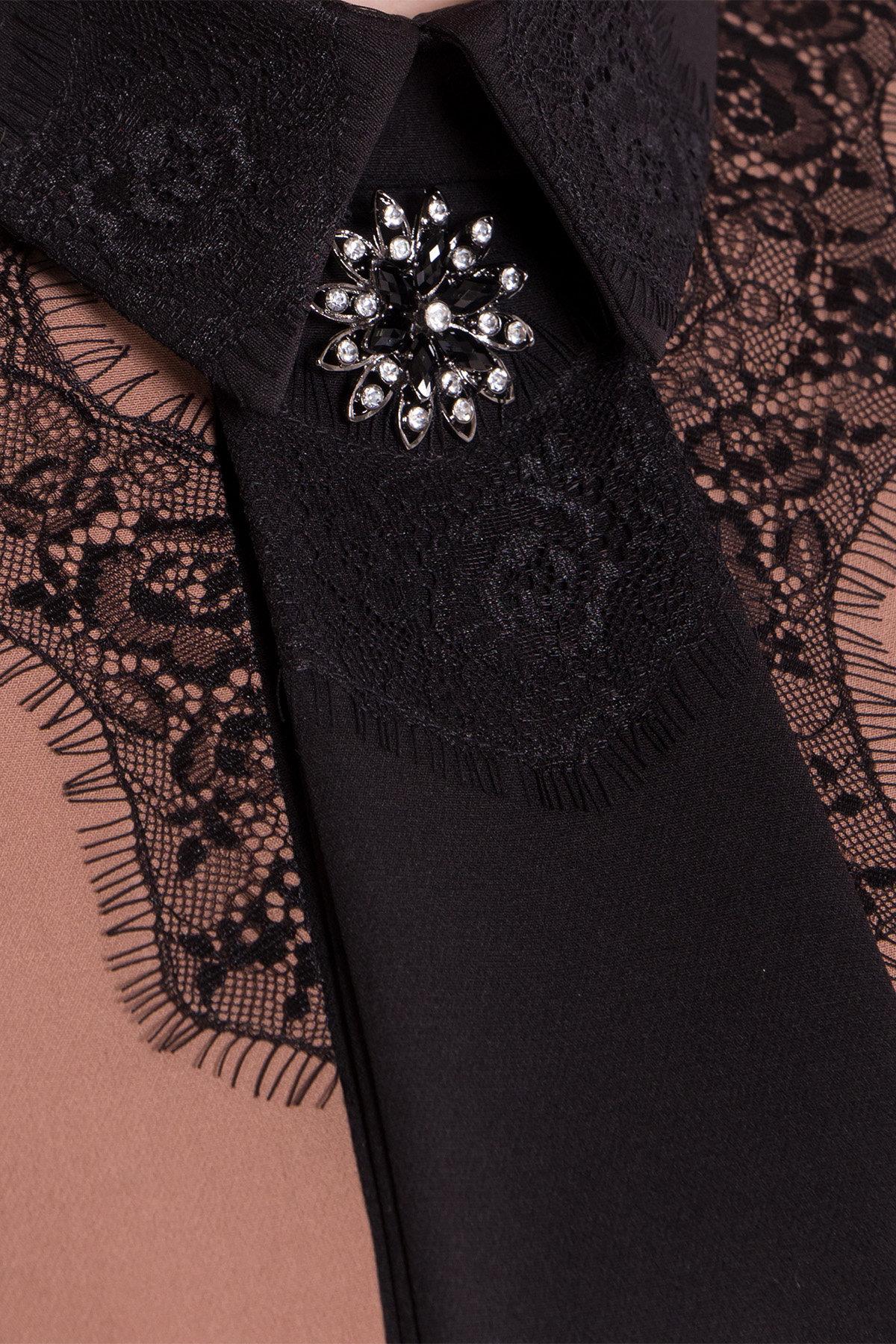 Платье-трапеция Вивьен 8512 АРТ. 44800 Цвет: Бежевый Т/черный - фото 4, интернет магазин tm-modus.ru