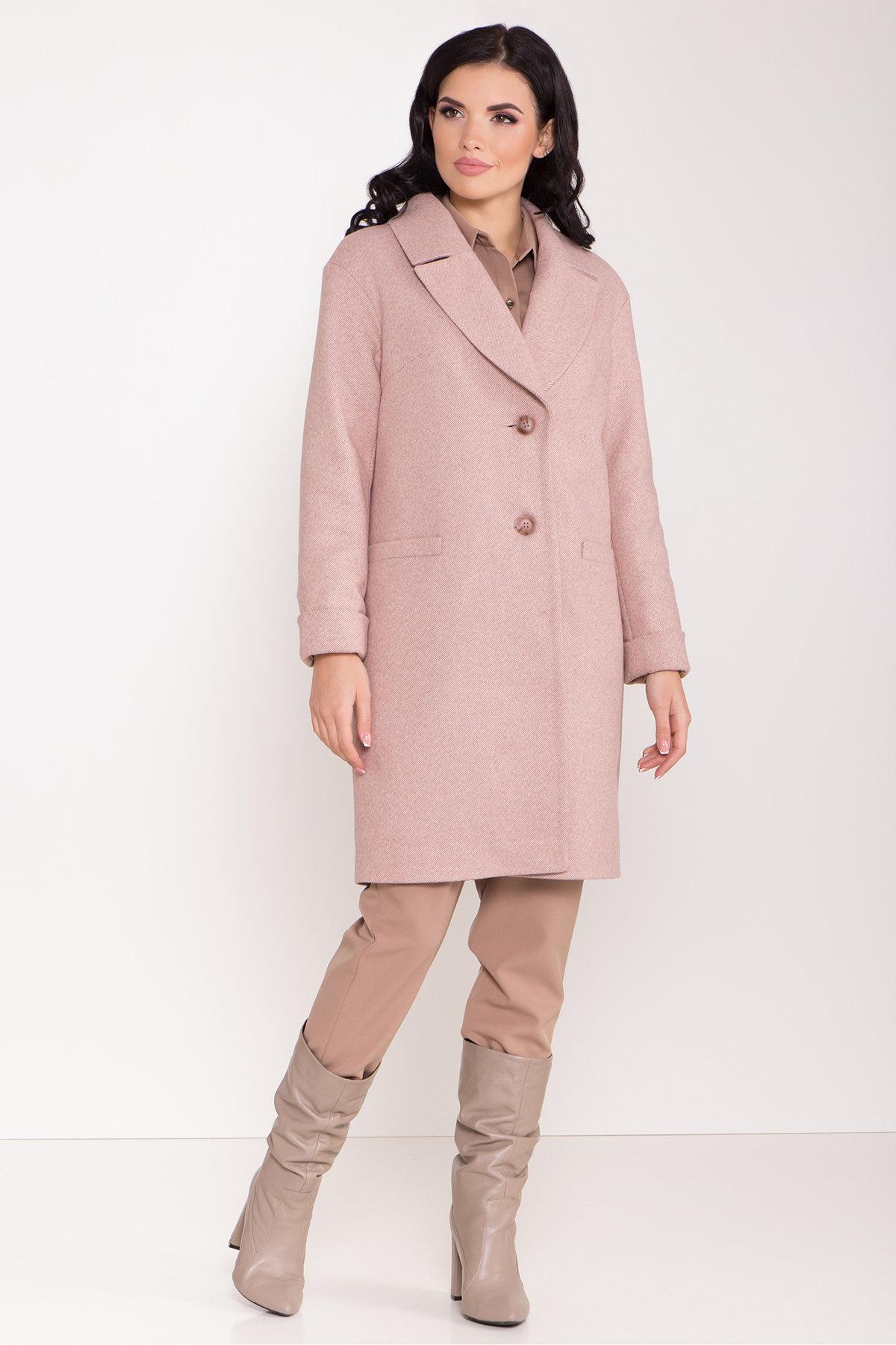 Зимнее утепленное пальто диагональ Вива 8243 АРТ. 44280 Цвет: Бежевый - фото 4, интернет магазин tm-modus.ru
