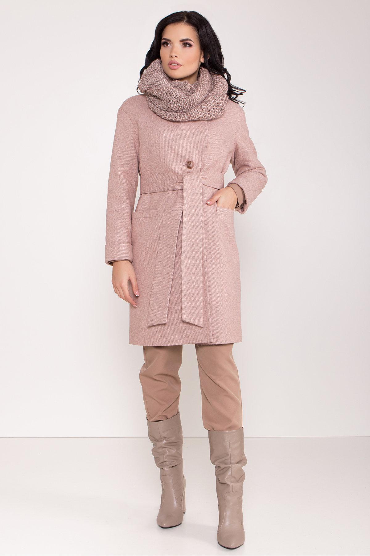 Зимнее утепленное пальто диагональ Вива 8243 АРТ. 44280 Цвет: Бежевый - фото 13, интернет магазин tm-modus.ru