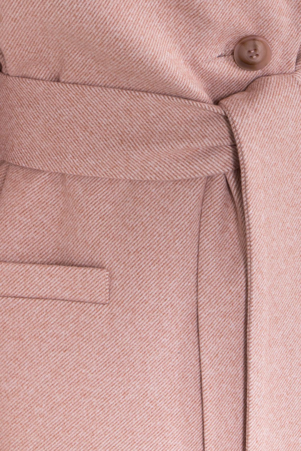 Зимнее утепленное пальто диагональ Вива 8243 АРТ. 44280 Цвет: Бежевый - фото 19, интернет магазин tm-modus.ru