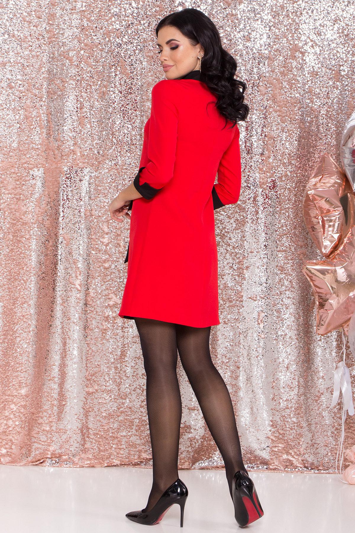 Платье-трапеция Вивьен 8512 АРТ. 44802 Цвет: Красная/черная - фото 3, интернет магазин tm-modus.ru