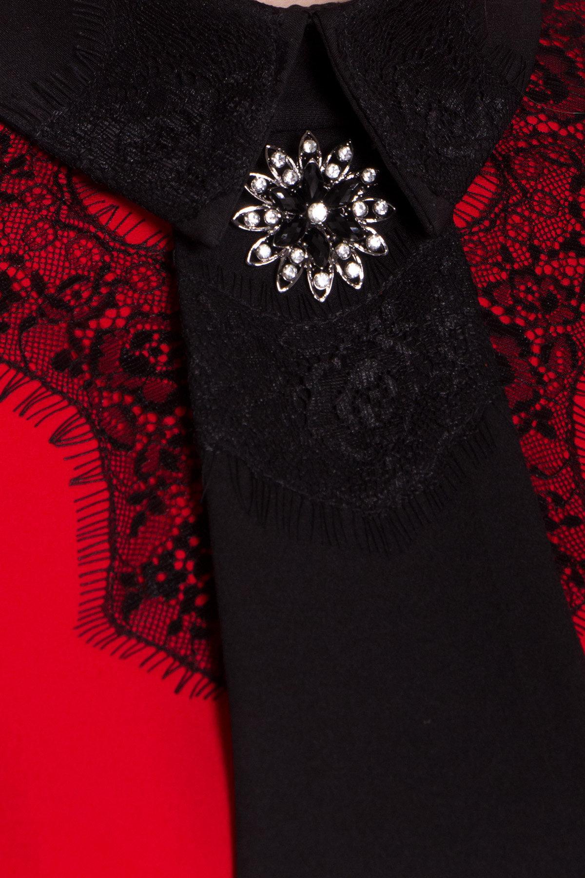 Платье-трапеция Вивьен 8512 АРТ. 44802 Цвет: Красная/черная - фото 4, интернет магазин tm-modus.ru