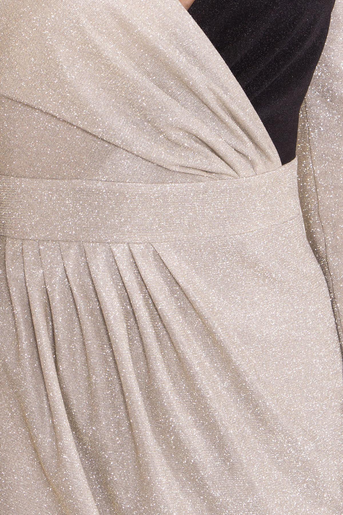 Контрастное двухцветное платье Блеск 8511 АРТ. 44822 Цвет: Серебро/золото - фото 6, интернет магазин tm-modus.ru