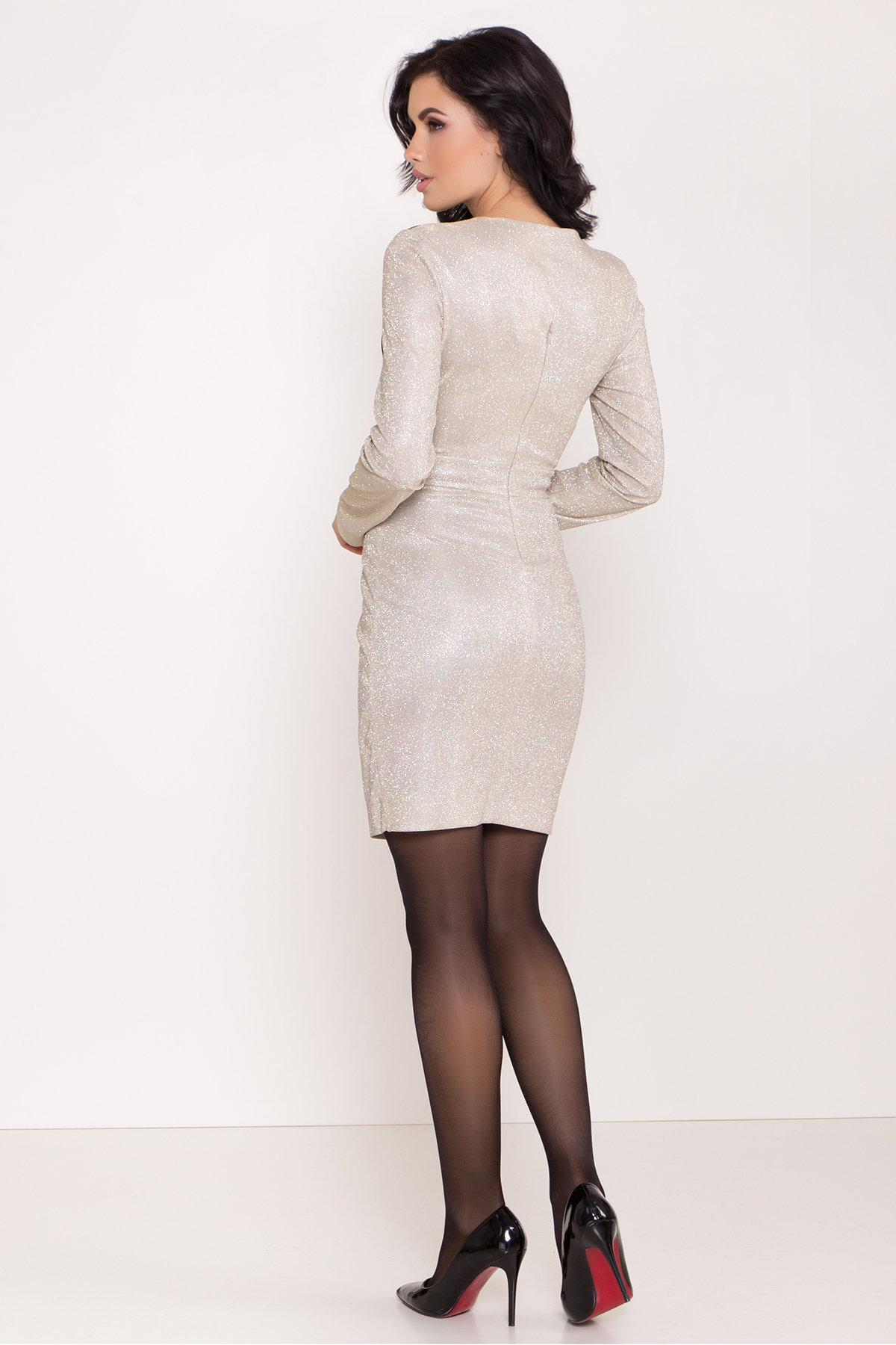 Контрастное двухцветное платье Блеск 8511 АРТ. 44822 Цвет: Серебро/золото - фото 8, интернет магазин tm-modus.ru