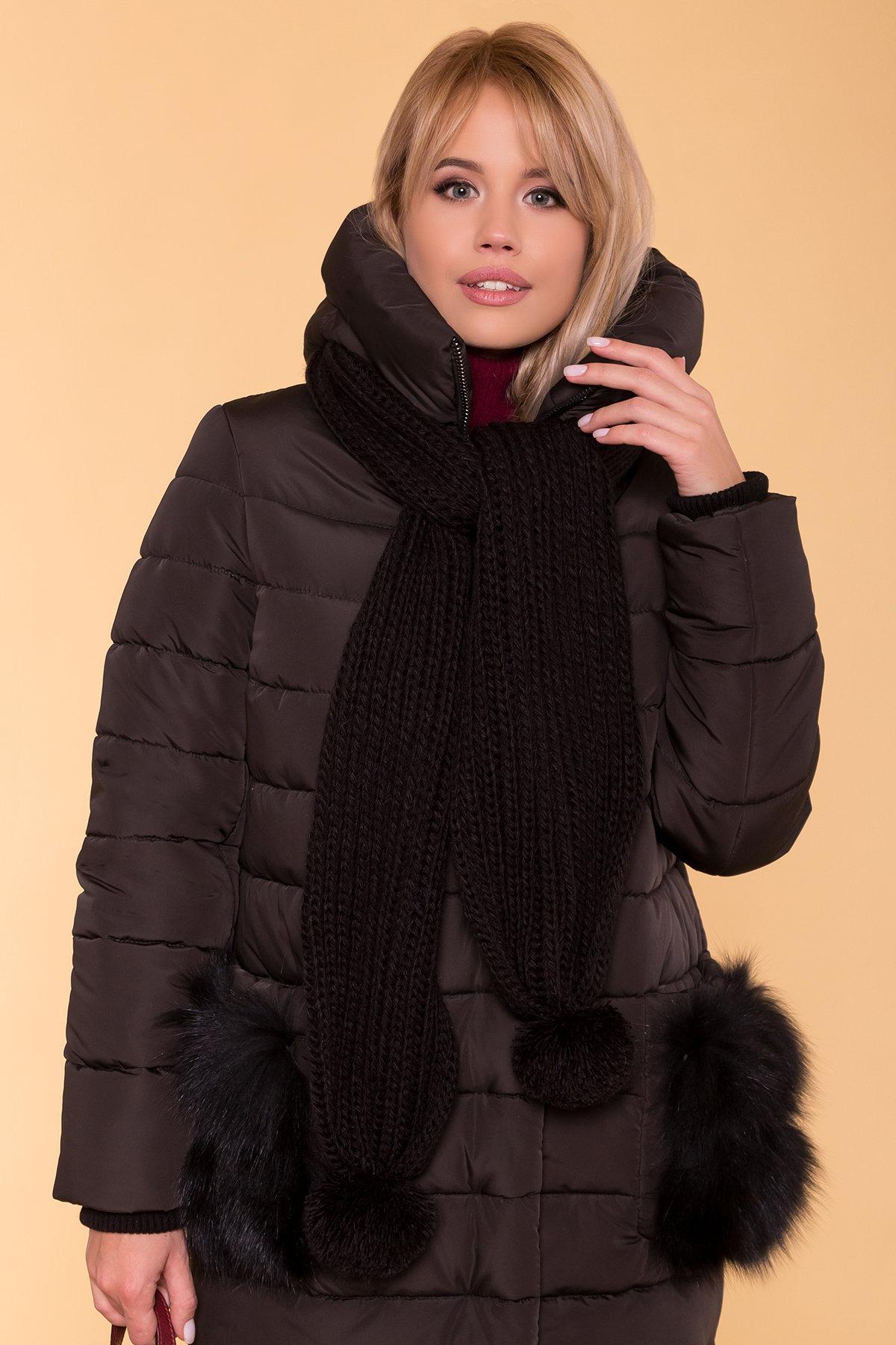 Зимний пуховик прямого кроя Лили Канада 8363 АРТ. 44551 Цвет: Черный - фото 5, интернет магазин tm-modus.ru