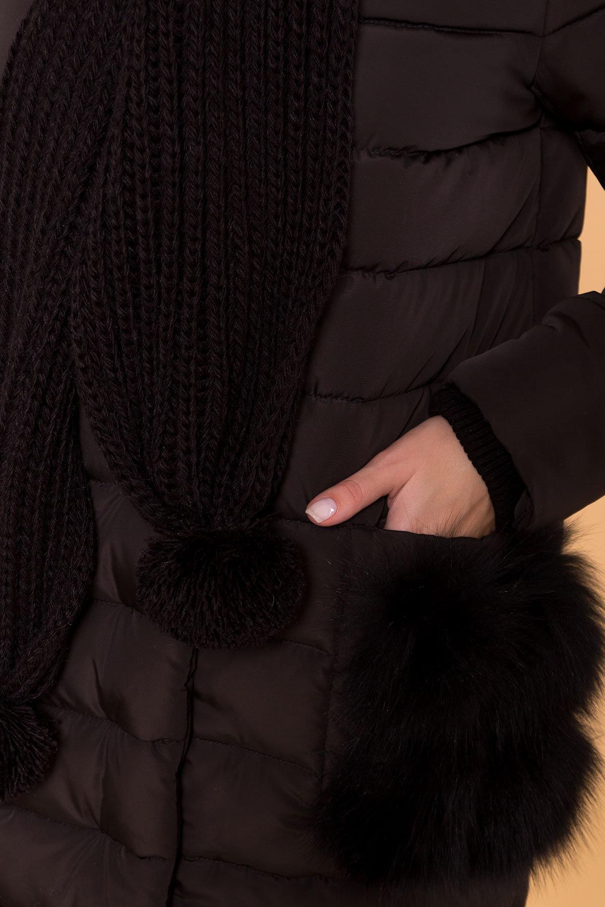 Зимний пуховик прямого кроя Лили Канада 8363 АРТ. 44551 Цвет: Черный - фото 6, интернет магазин tm-modus.ru