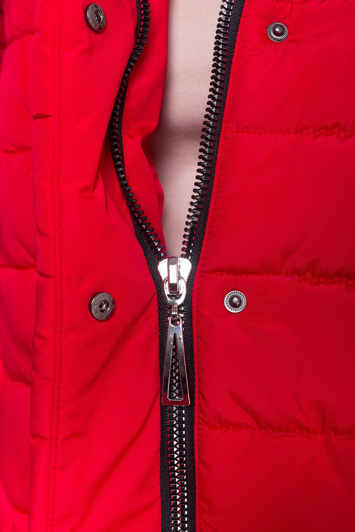 Зимний пуховик прямого кроя Лили Канада 8363 АРТ. 44554 Цвет: Красный - фото 13, интернет магазин tm-modus.ru