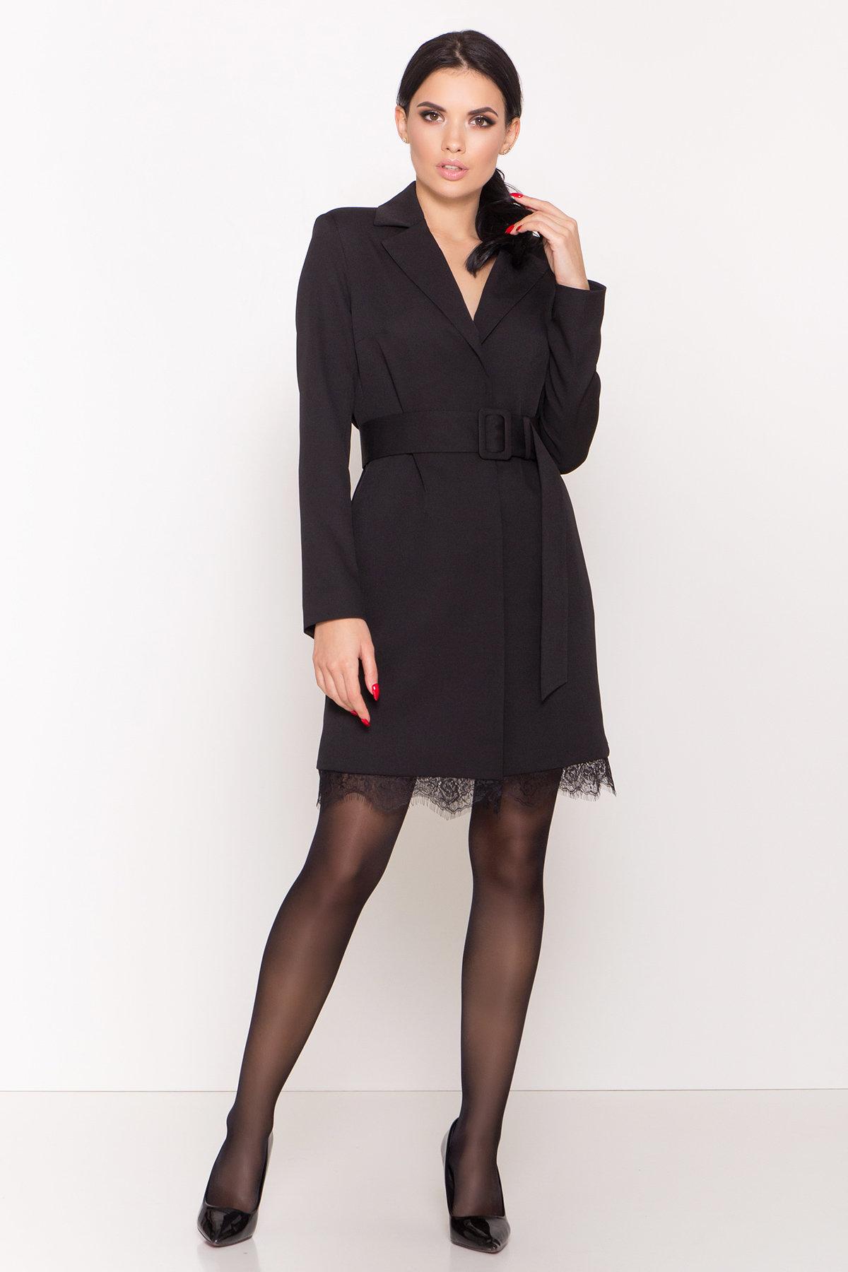 Платье-жакет Маренго 8426 АРТ. 44664 Цвет: Черный - фото 3, интернет магазин tm-modus.ru
