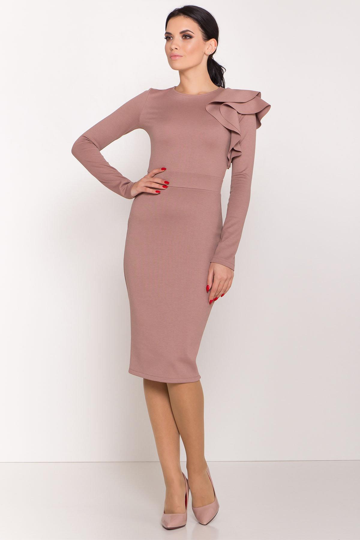 Платье Оникс 8367 АРТ. 44795 Цвет: Бежевый Темный - фото 2, интернет магазин tm-modus.ru