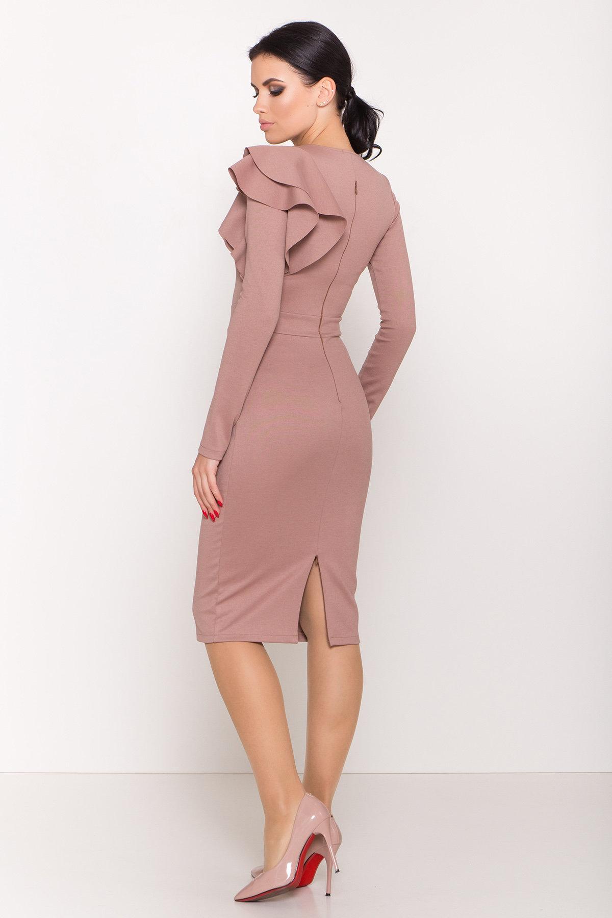 Платье Оникс 8367 АРТ. 44795 Цвет: Бежевый Темный - фото 6, интернет магазин tm-modus.ru