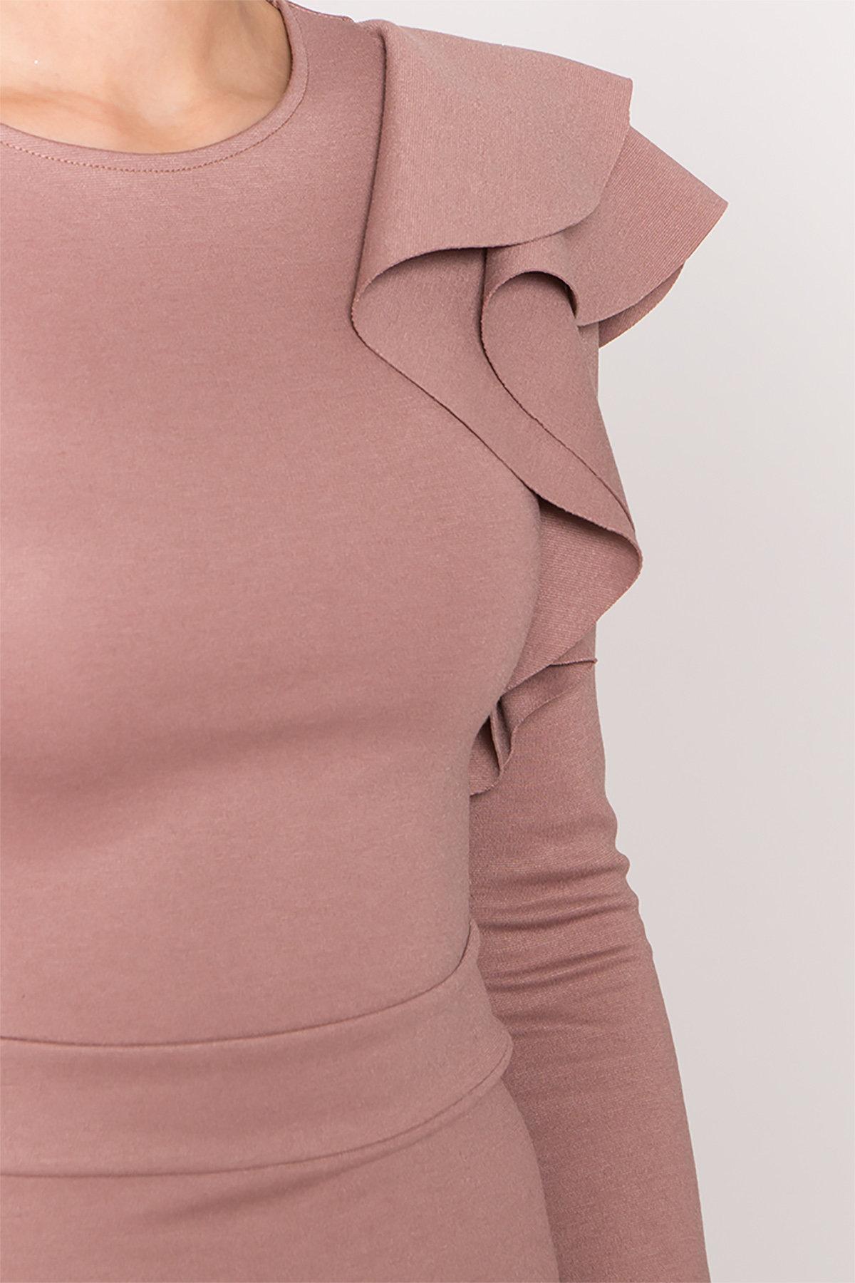 Платье Оникс 8367 АРТ. 44795 Цвет: Бежевый Темный - фото 8, интернет магазин tm-modus.ru