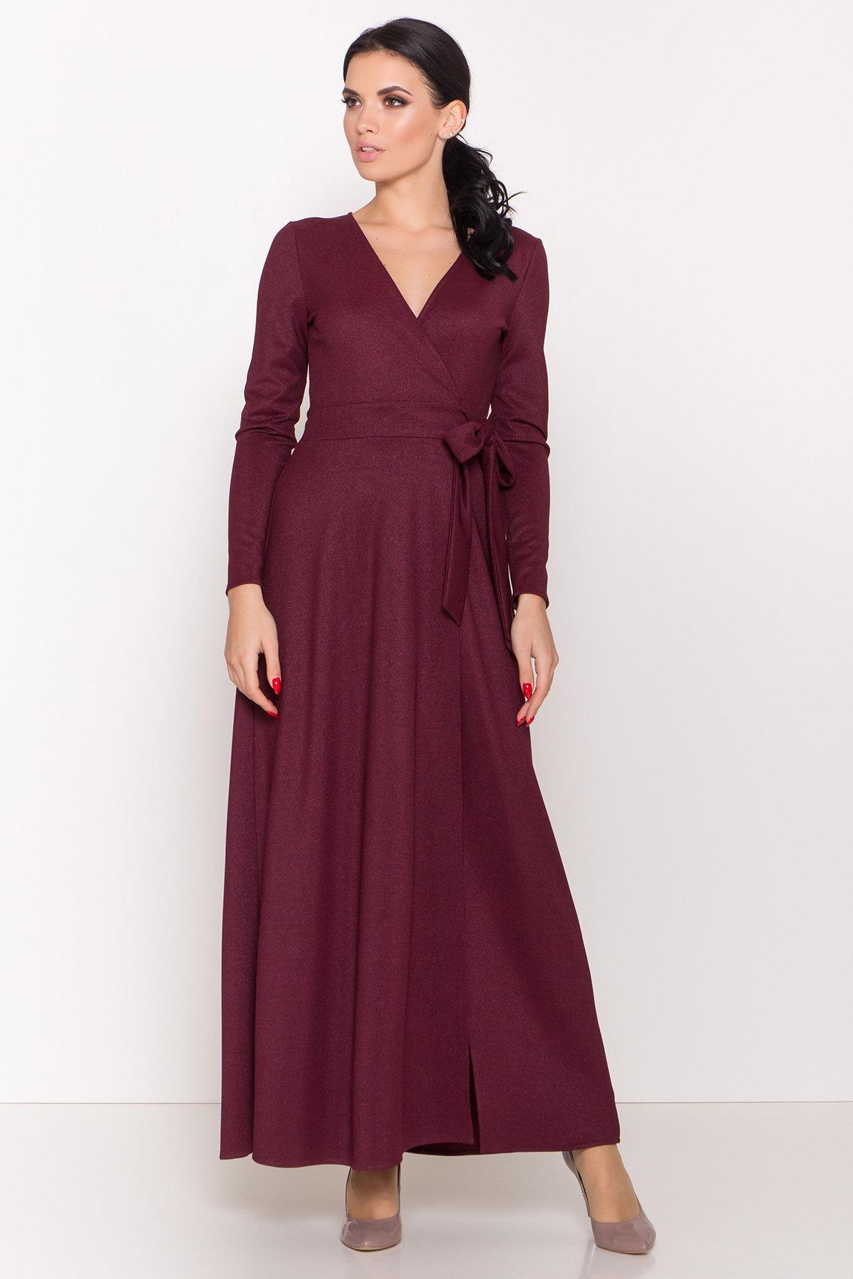 Платье макси Жозель 5861 Цвет: Марсала
