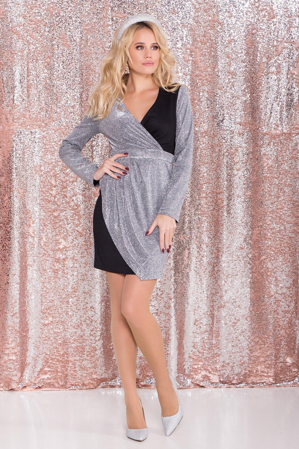 Платья от украинского производителя Контрастное двухцветное платье Блеск 8511