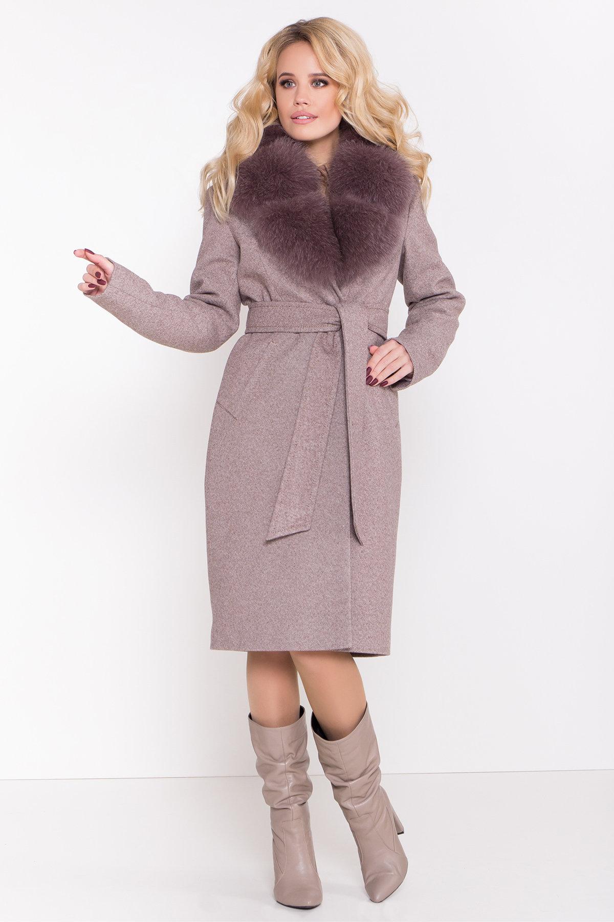 Пальто зимнее купить от TM Modus Зимнее пальто с роскошным воротником из песца Камила классик 8489