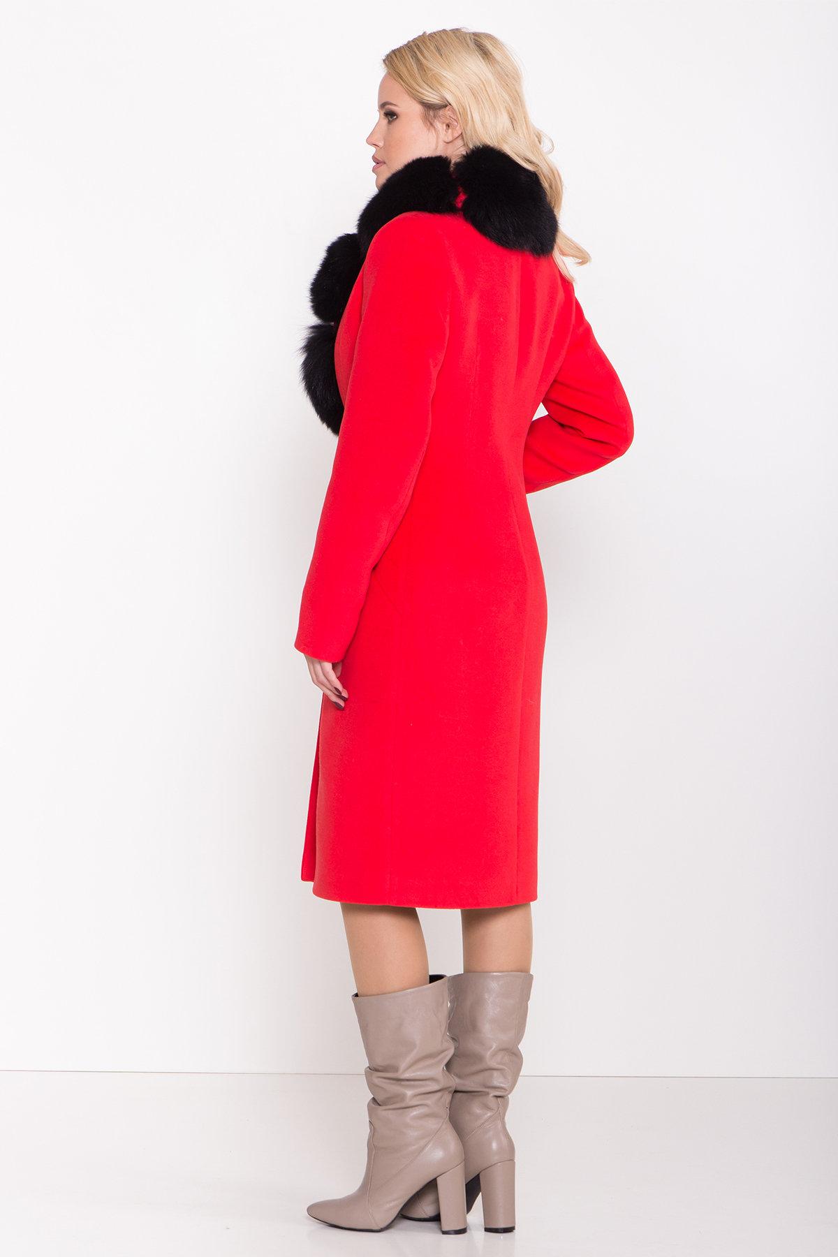 Зимнее пальто с меховым воротником Кареро 8439 АРТ. 44695 Цвет: Красный - фото 4, интернет магазин tm-modus.ru