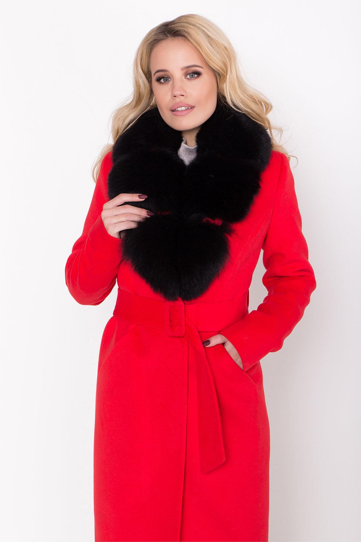 Зимнее пальто с меховым воротником Кареро 8439 АРТ. 44695 Цвет: Красный - фото 5, интернет магазин tm-modus.ru