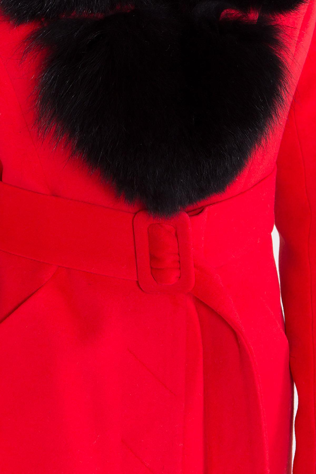Зимнее пальто с меховым воротником Кареро 8439 АРТ. 44695 Цвет: Красный - фото 6, интернет магазин tm-modus.ru