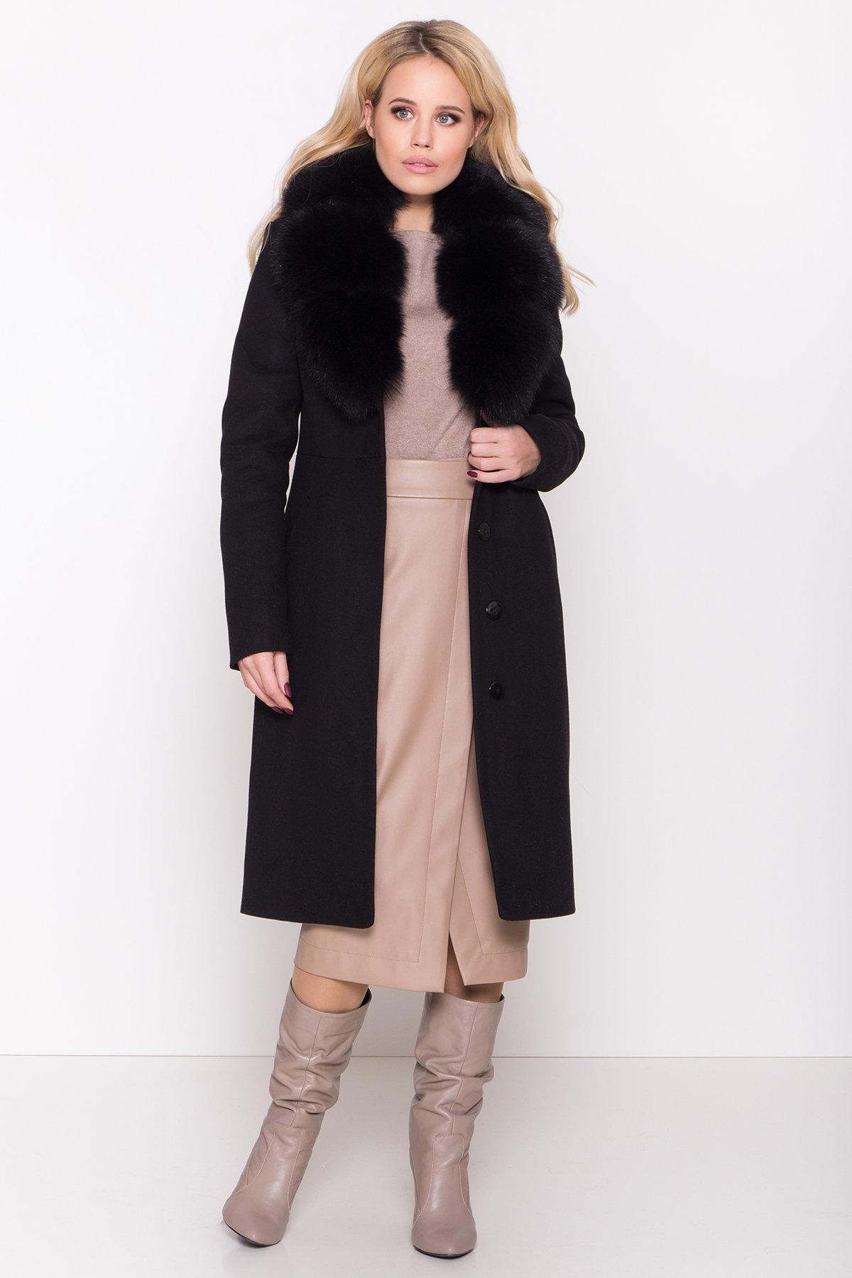 Пальто зима Камила классик 8486 АРТ. 44777 Цвет: Черный Н-1 - фото 2, интернет магазин tm-modus.ru