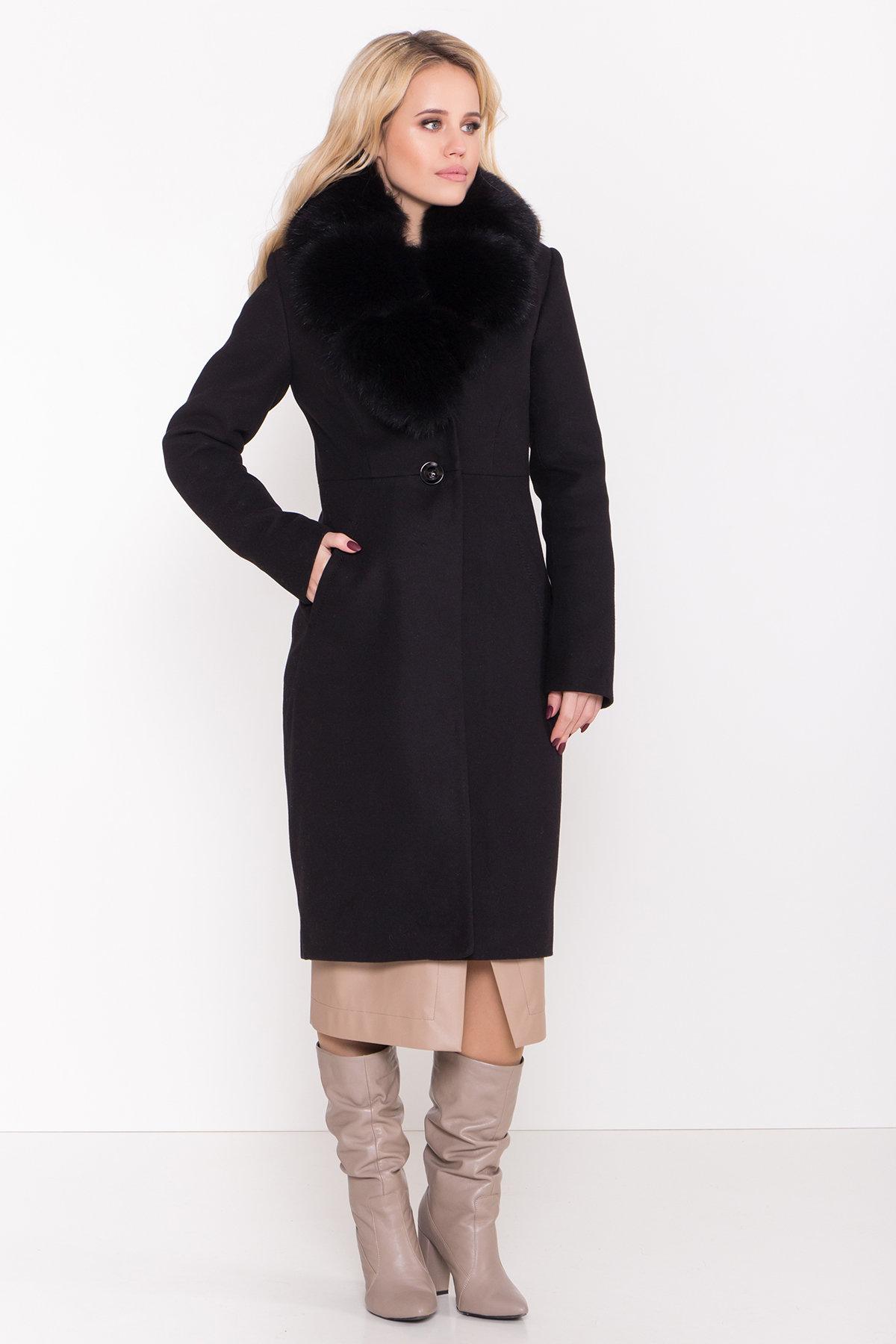 Пальто зима Камила классик 8486 АРТ. 44777 Цвет: Черный Н-1 - фото 3, интернет магазин tm-modus.ru