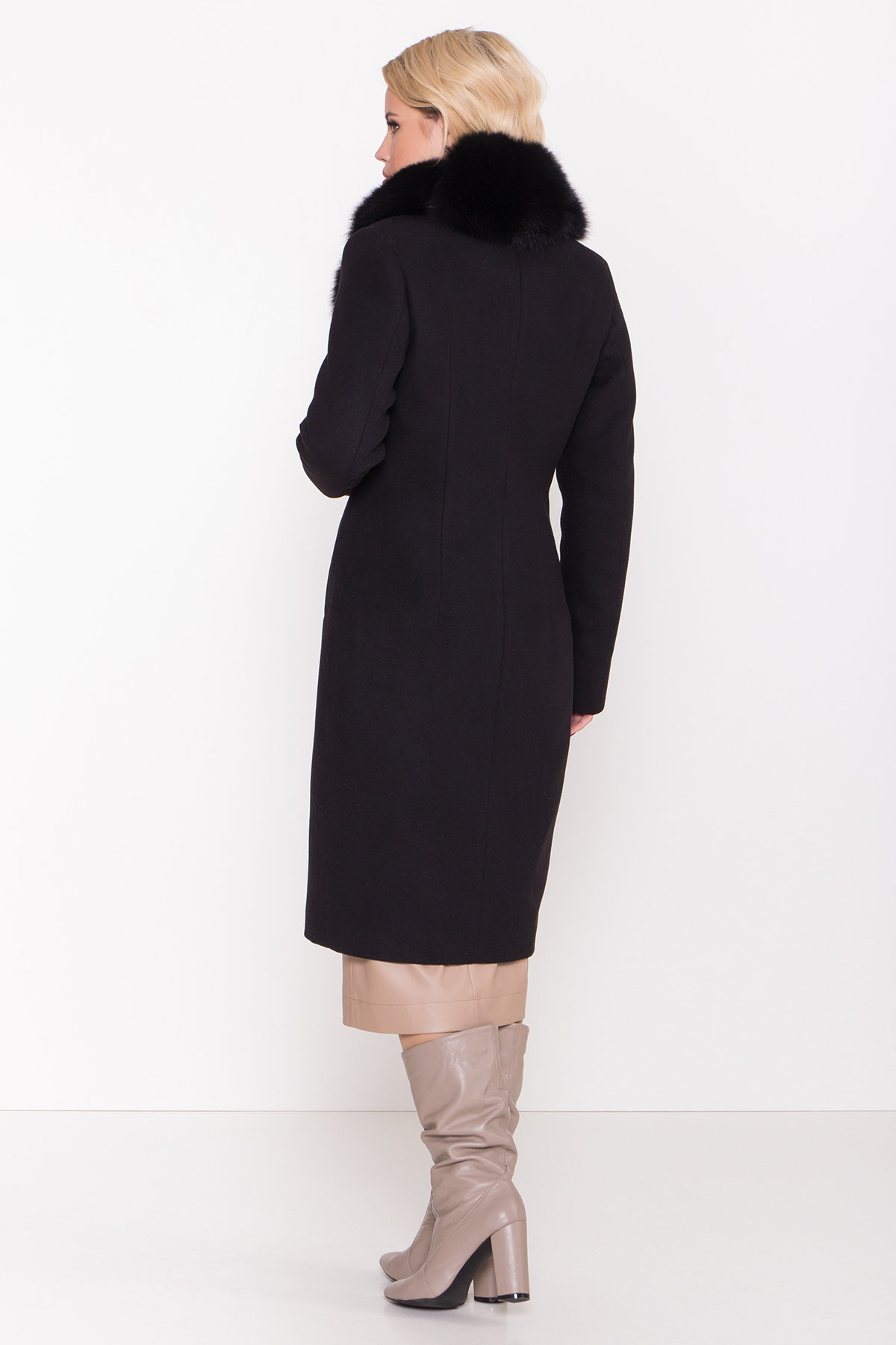 Пальто зима Камила классик 8486 АРТ. 44777 Цвет: Черный Н-1 - фото 4, интернет магазин tm-modus.ru