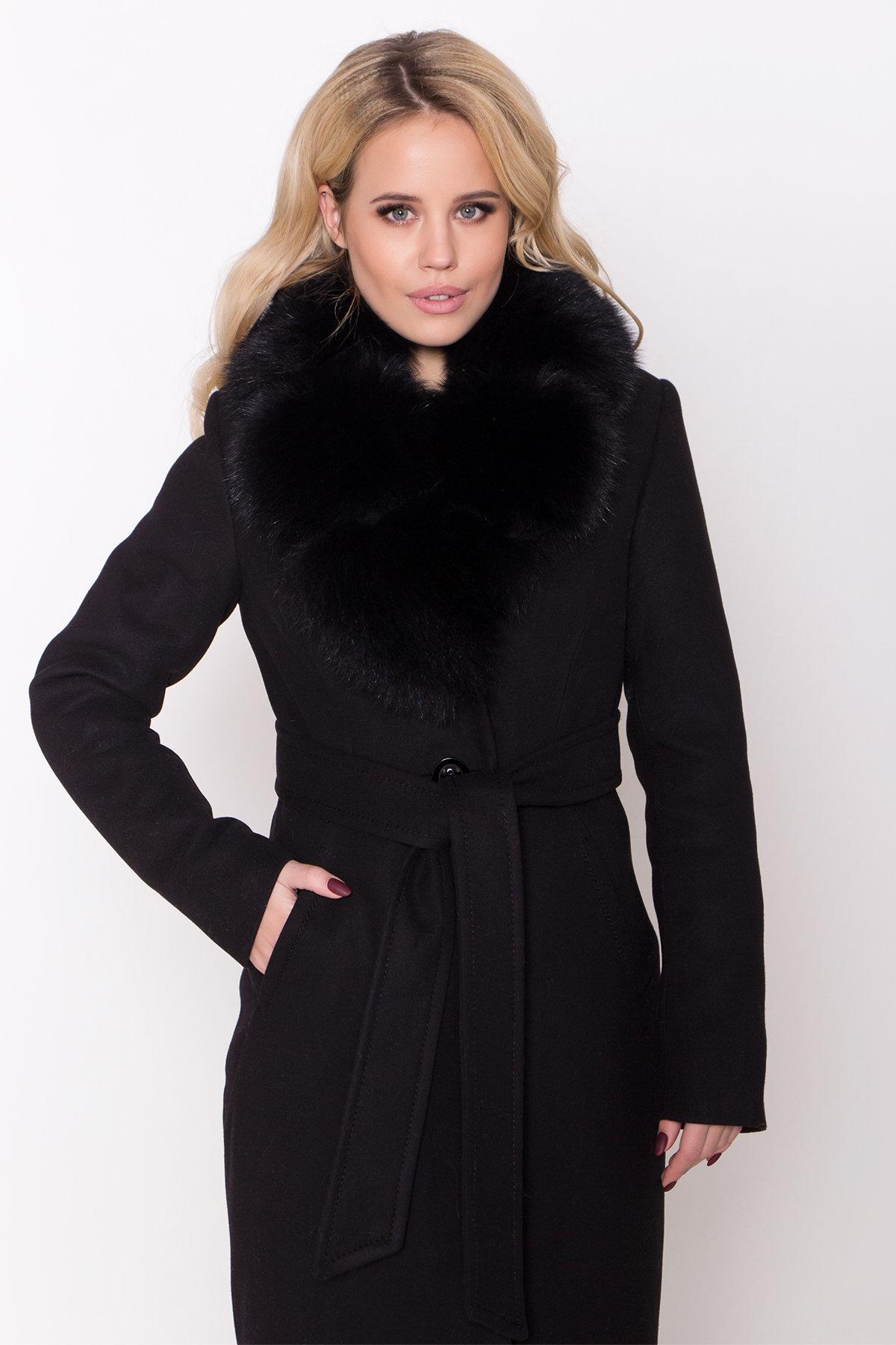 Пальто зима Камила классик 8486 АРТ. 44777 Цвет: Черный Н-1 - фото 5, интернет магазин tm-modus.ru