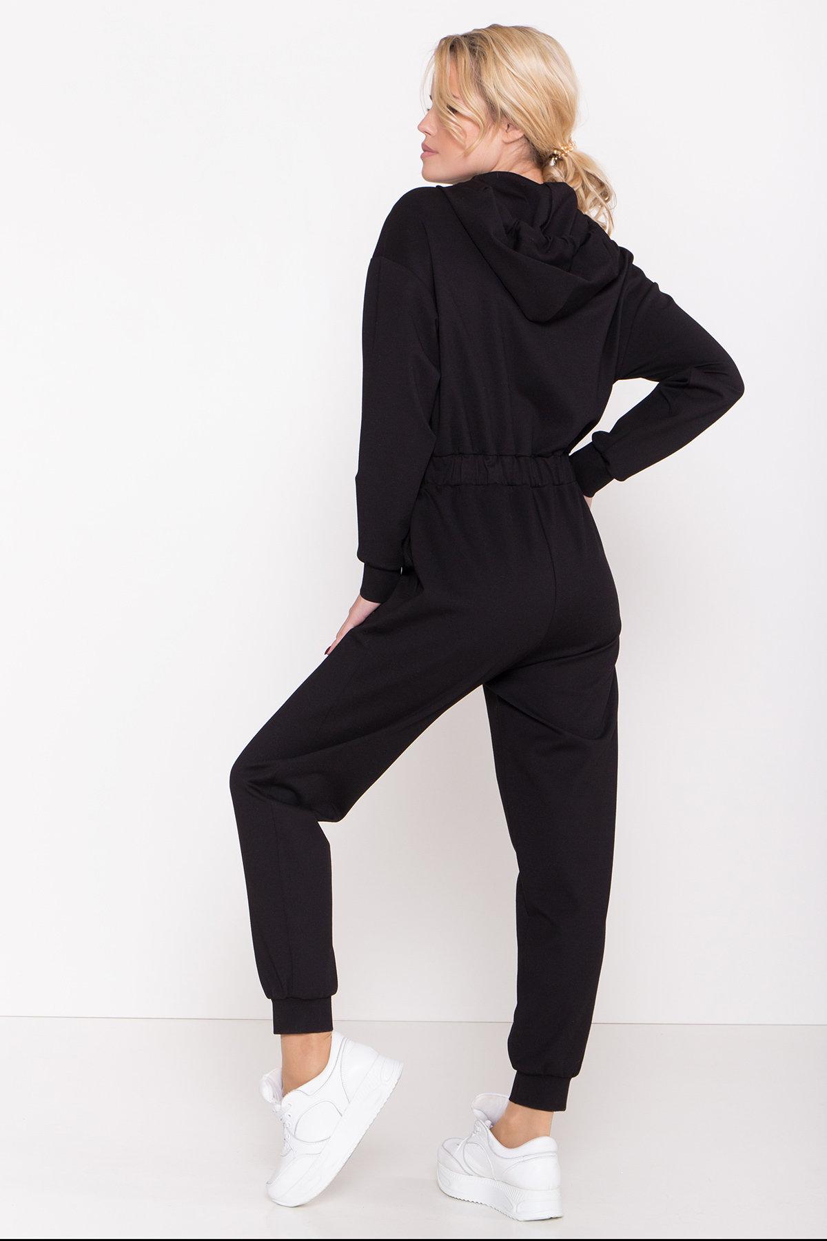 Трикотажный костюм с капюшоном Толедо 8463 АРТ. 44877 Цвет: Черный - фото 3, интернет магазин tm-modus.ru
