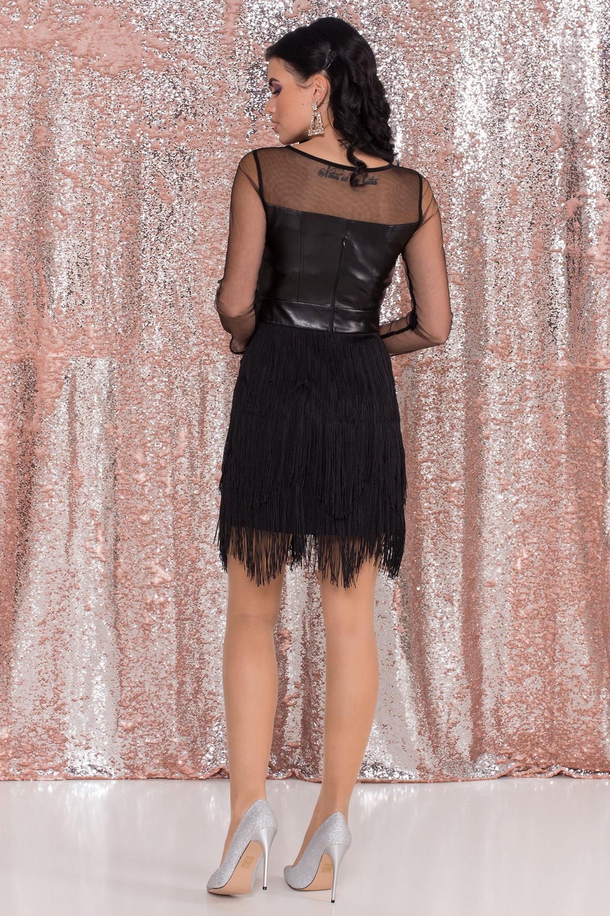 Платье Монталь 8558 АРТ. 44883 Цвет: Черный - фото 3, интернет магазин tm-modus.ru